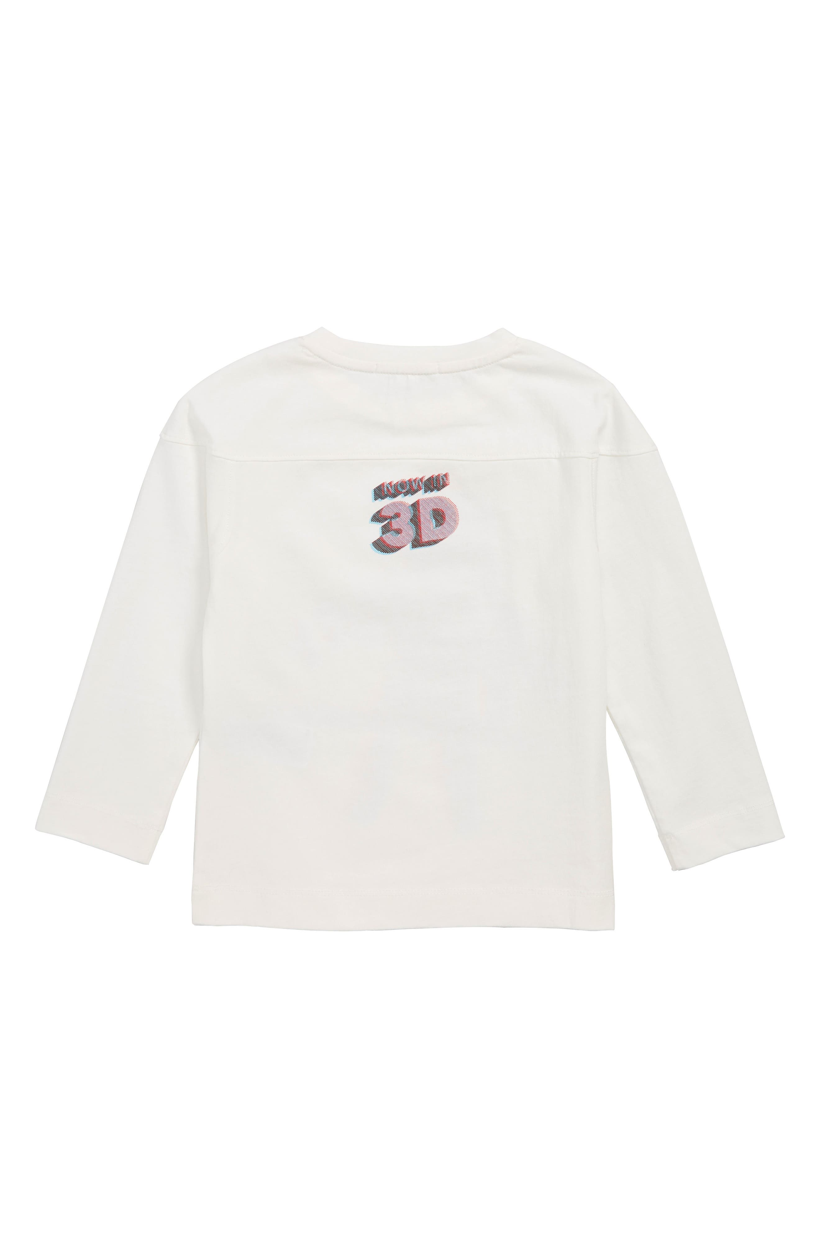3D Spaceman Graphic T-Shirt,                             Alternate thumbnail 2, color,                             WHITE