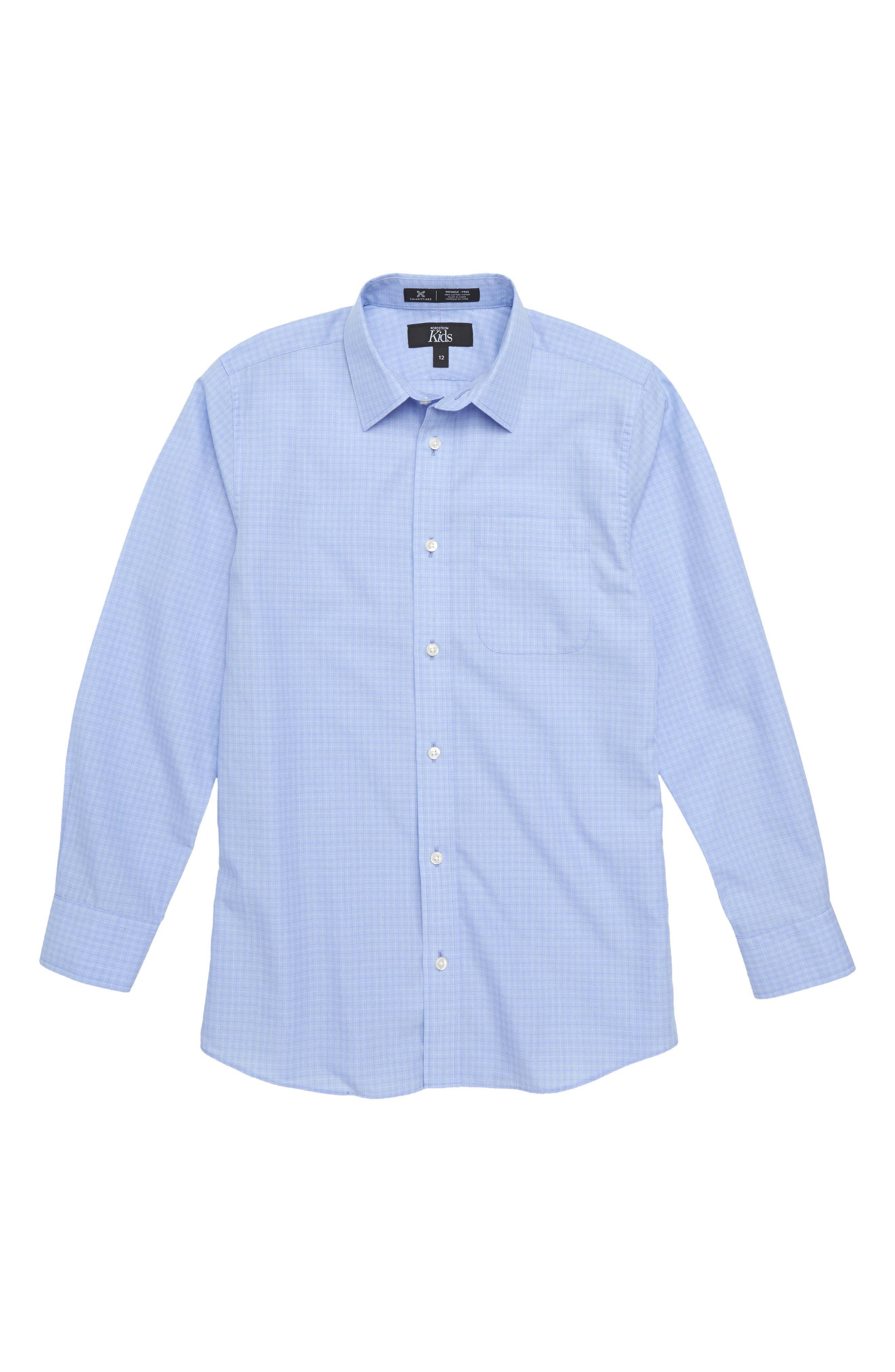Dobby Checks Dress Shirt,                             Main thumbnail 1, color,                             450