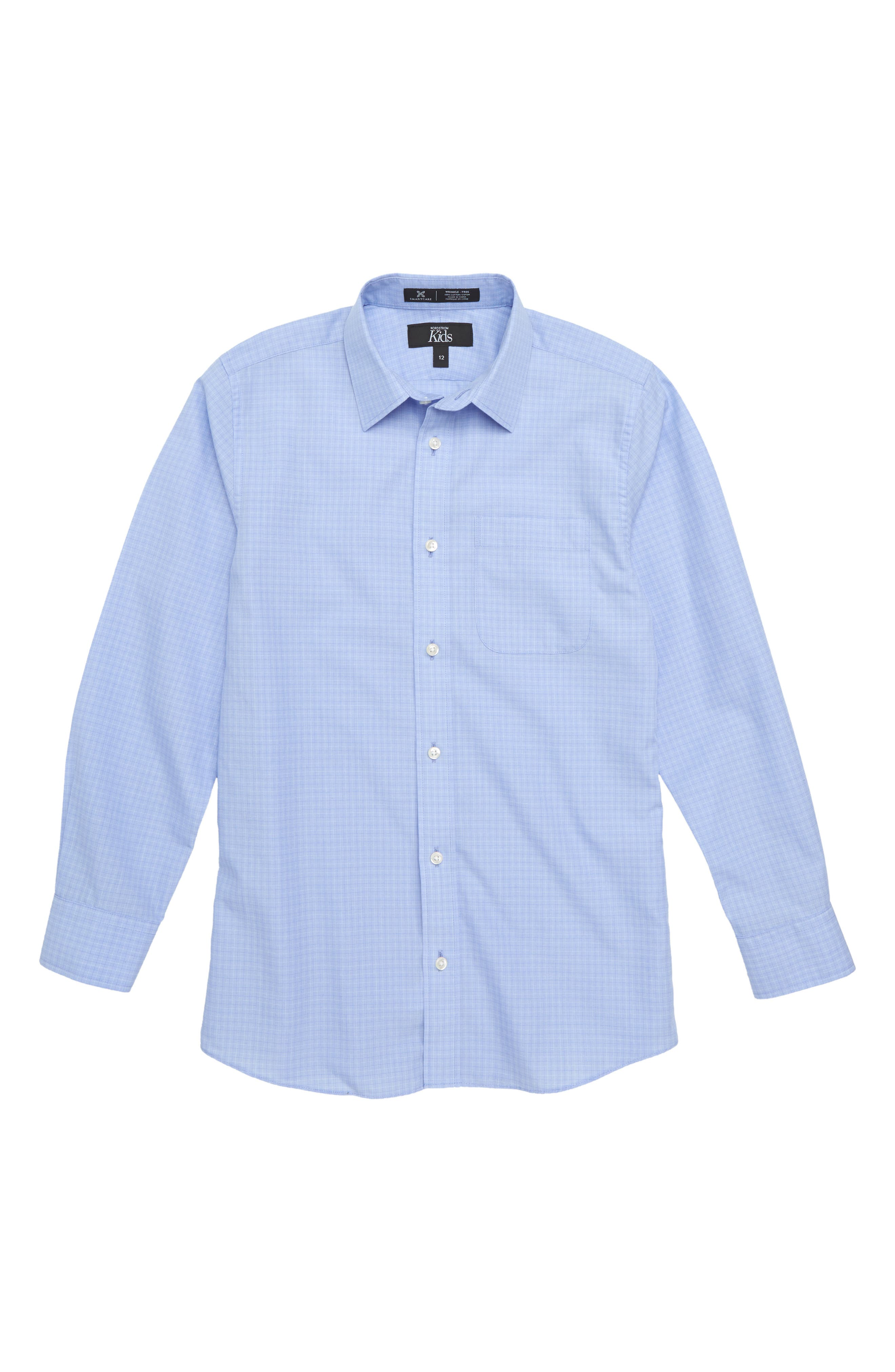 Dobby Checks Dress Shirt,                         Main,                         color, 450