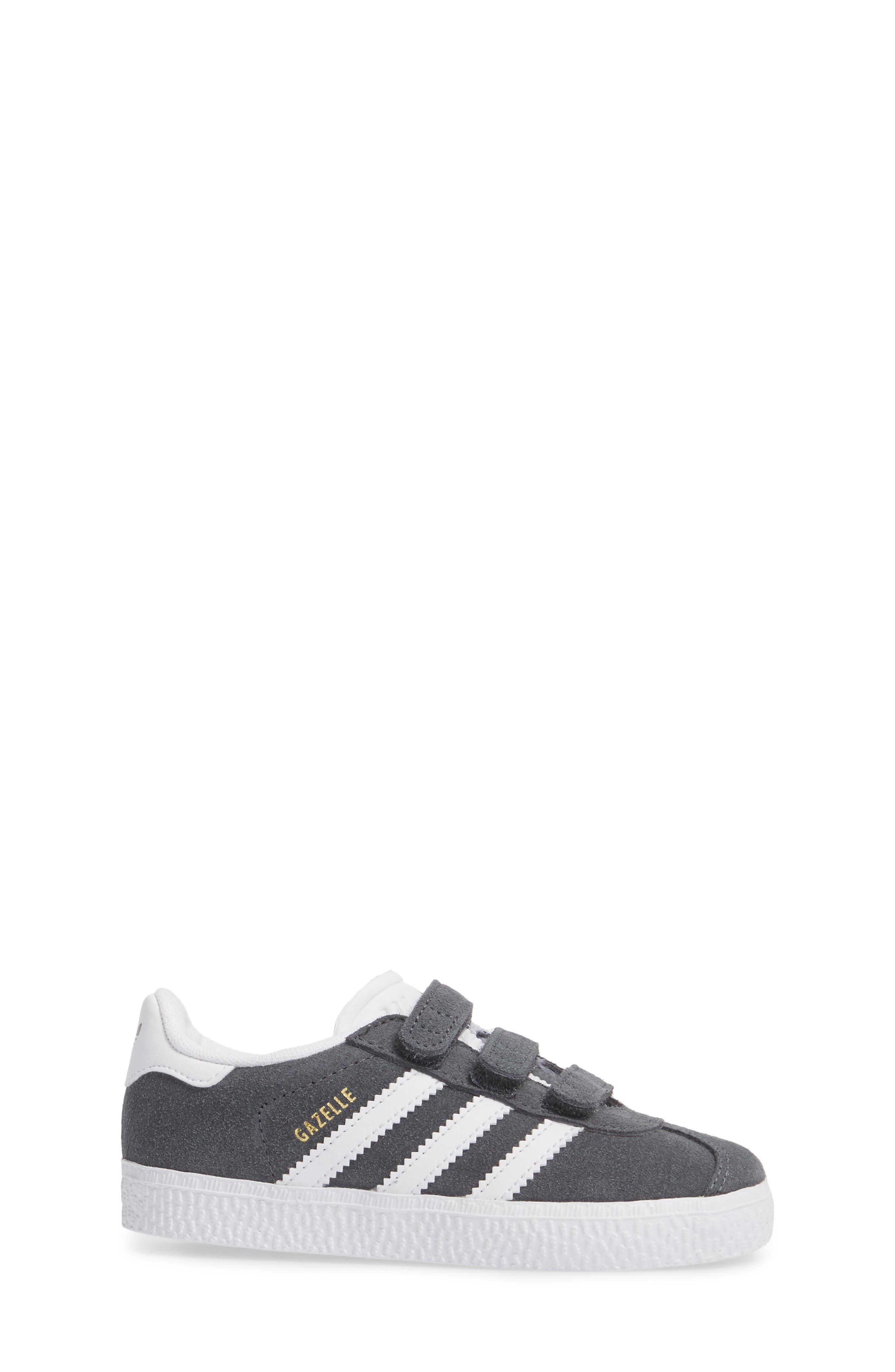 Gazelle Sneaker,                             Alternate thumbnail 3, color,                             SOLID GREY / WHITE / WHITE