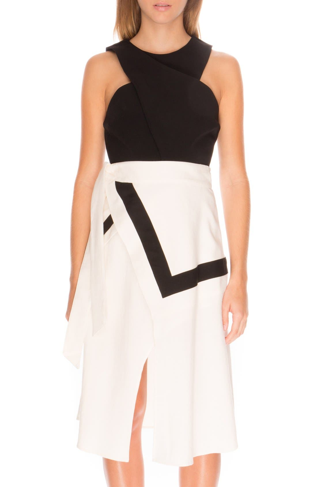 the Label 'Lay it Down' Front Slit Skirt, Main, color, 900