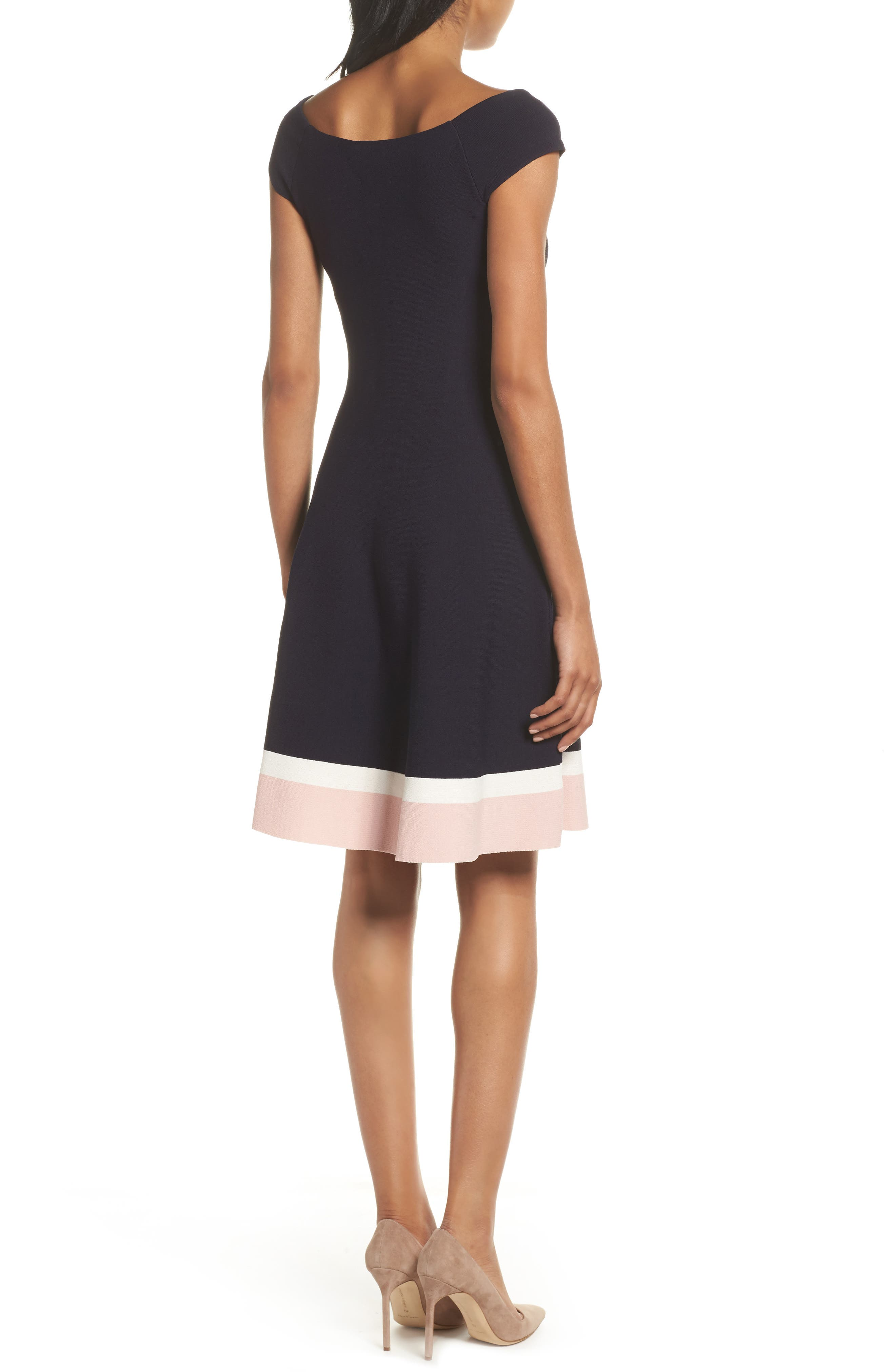 Fit & Flare Dress,                             Alternate thumbnail 2, color,                             410