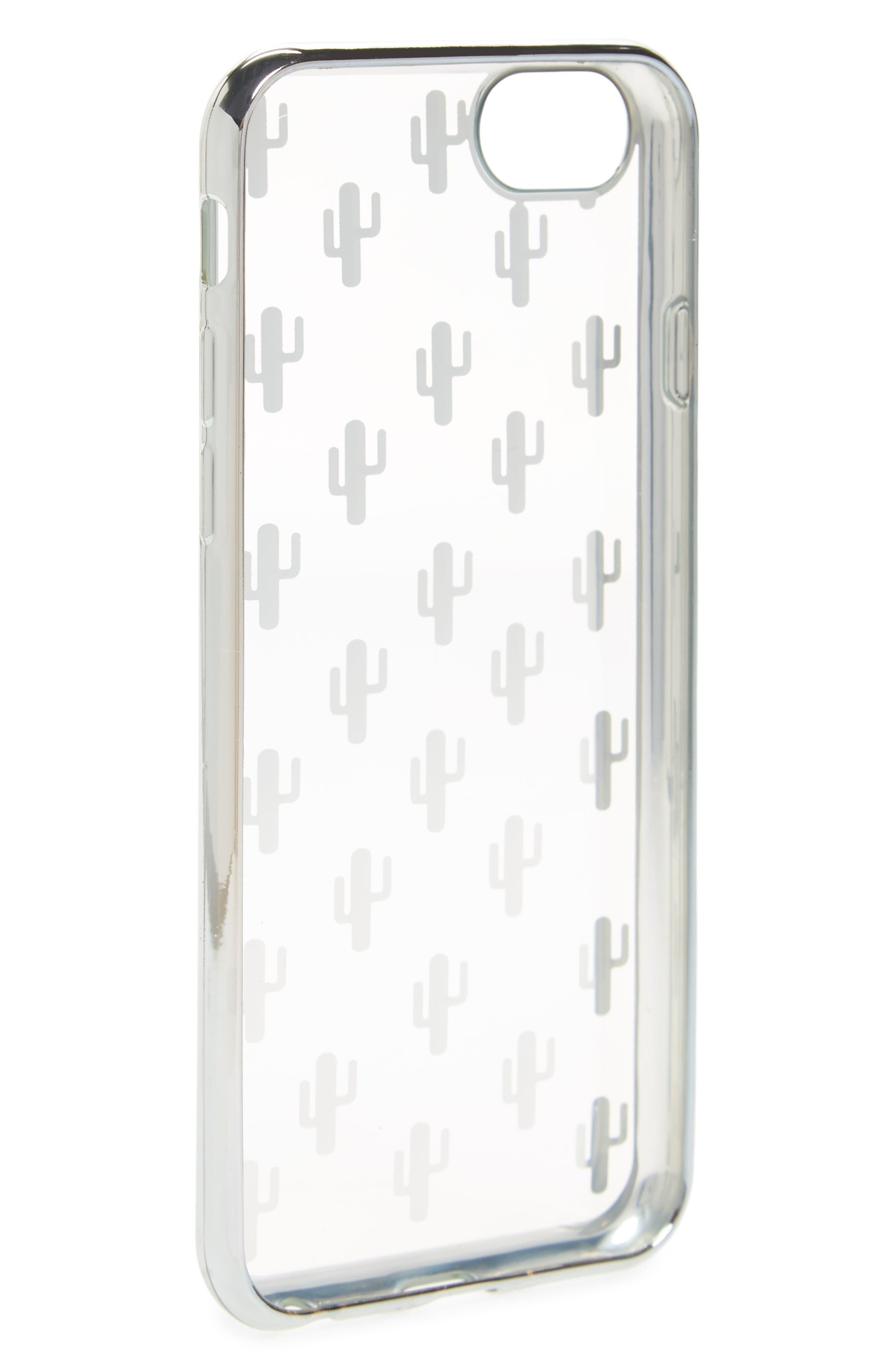 Transparent Cactus iPhone 6/6s/7 Case,                             Alternate thumbnail 2, color,