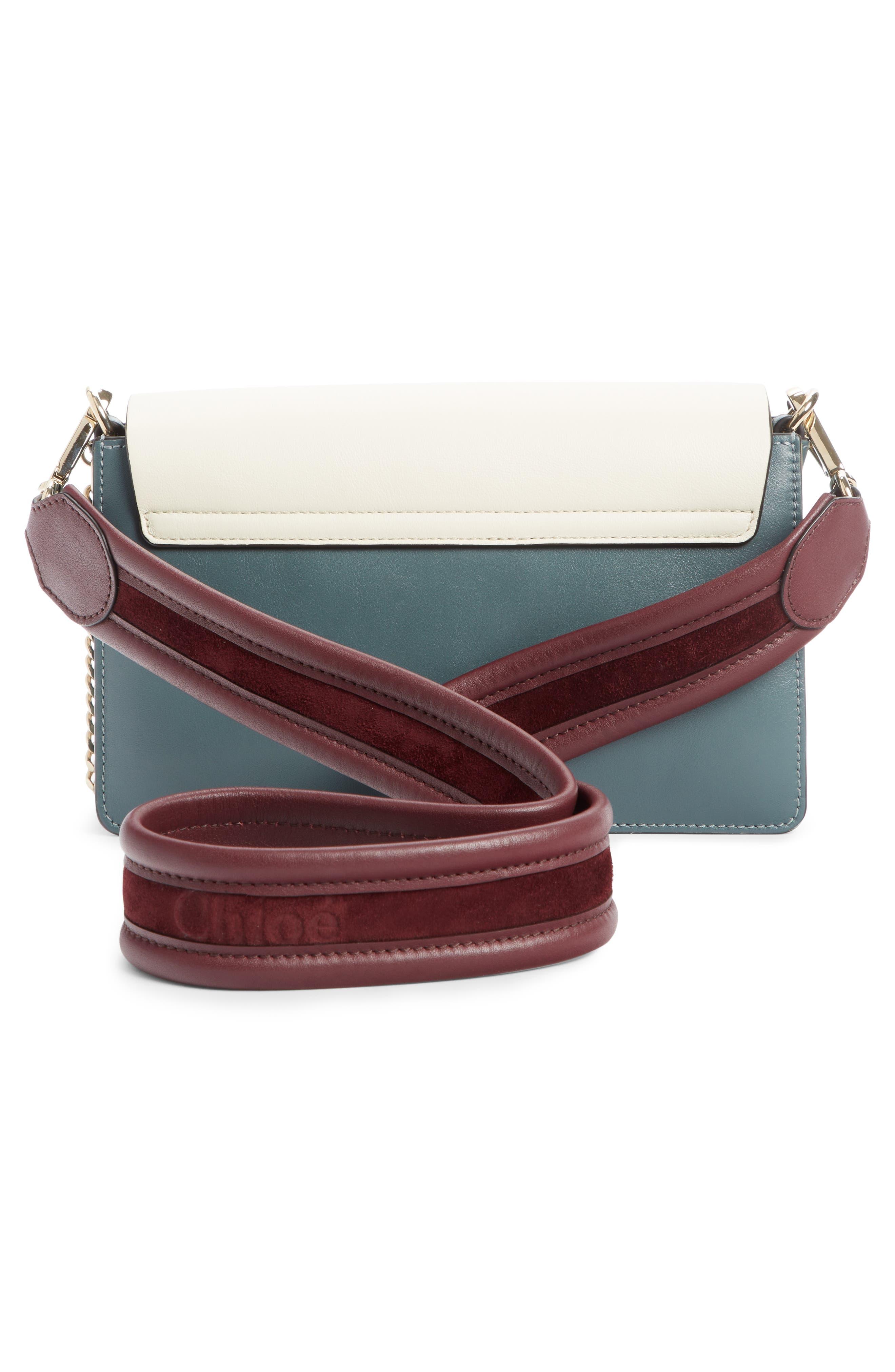 Faye Colorblock Leather Shoulder Bag,                             Alternate thumbnail 2, color,                             BLUE/ WHITE