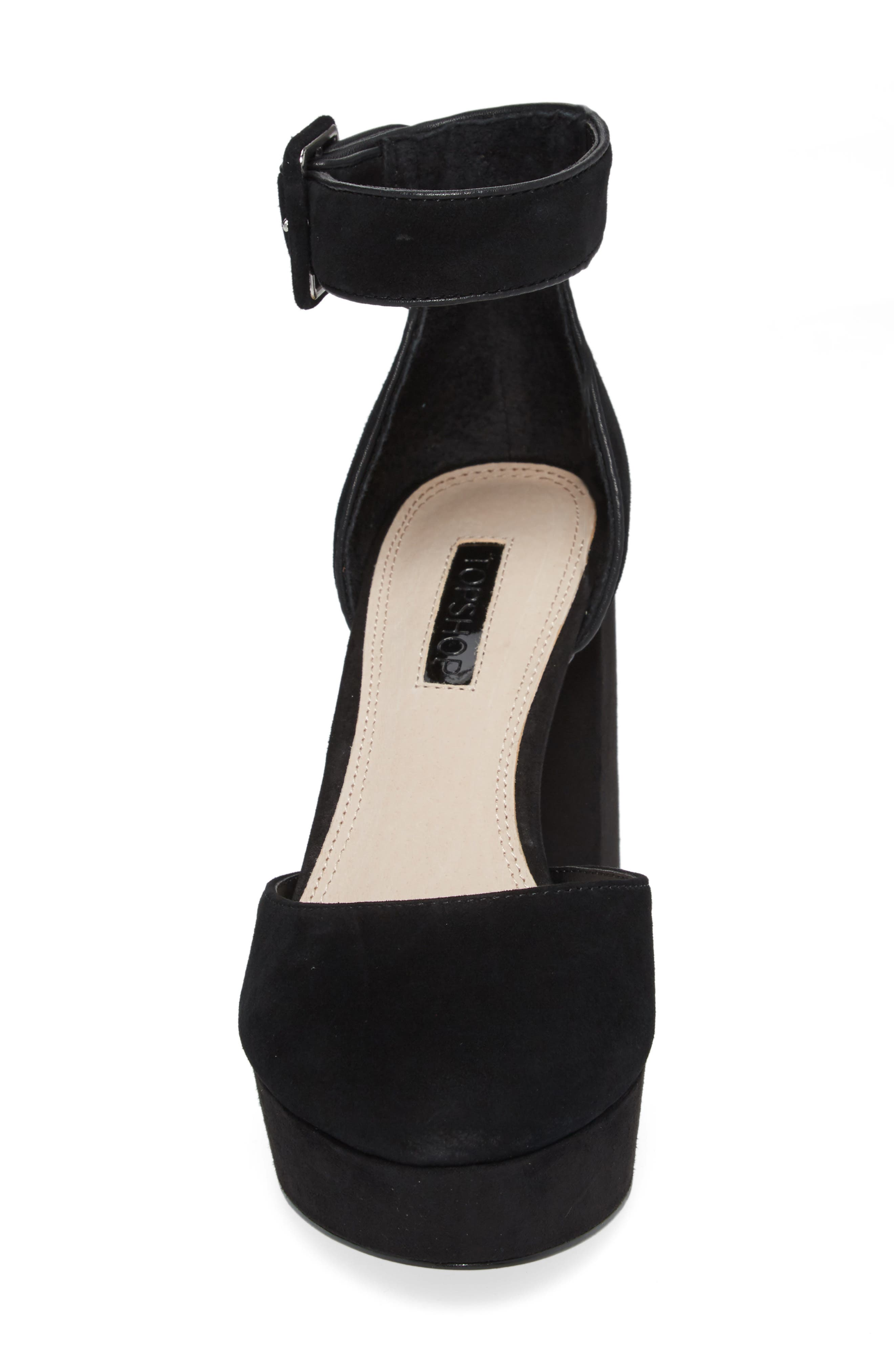 Ankle Strap Platform Sandal,                             Alternate thumbnail 4, color,                             001