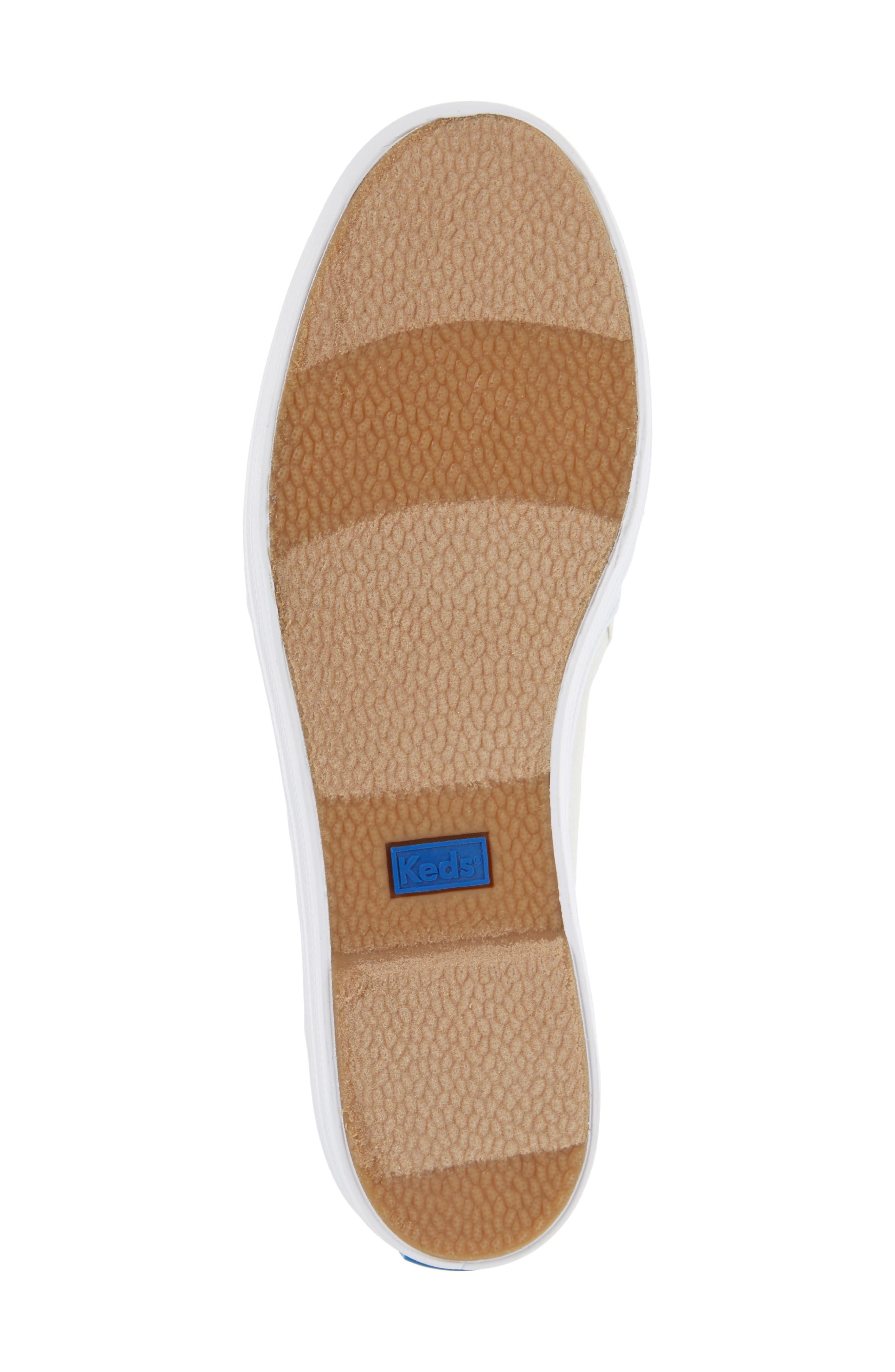 Triple Decker Metallic Linen Slip-On Sneaker,                             Alternate thumbnail 11, color,