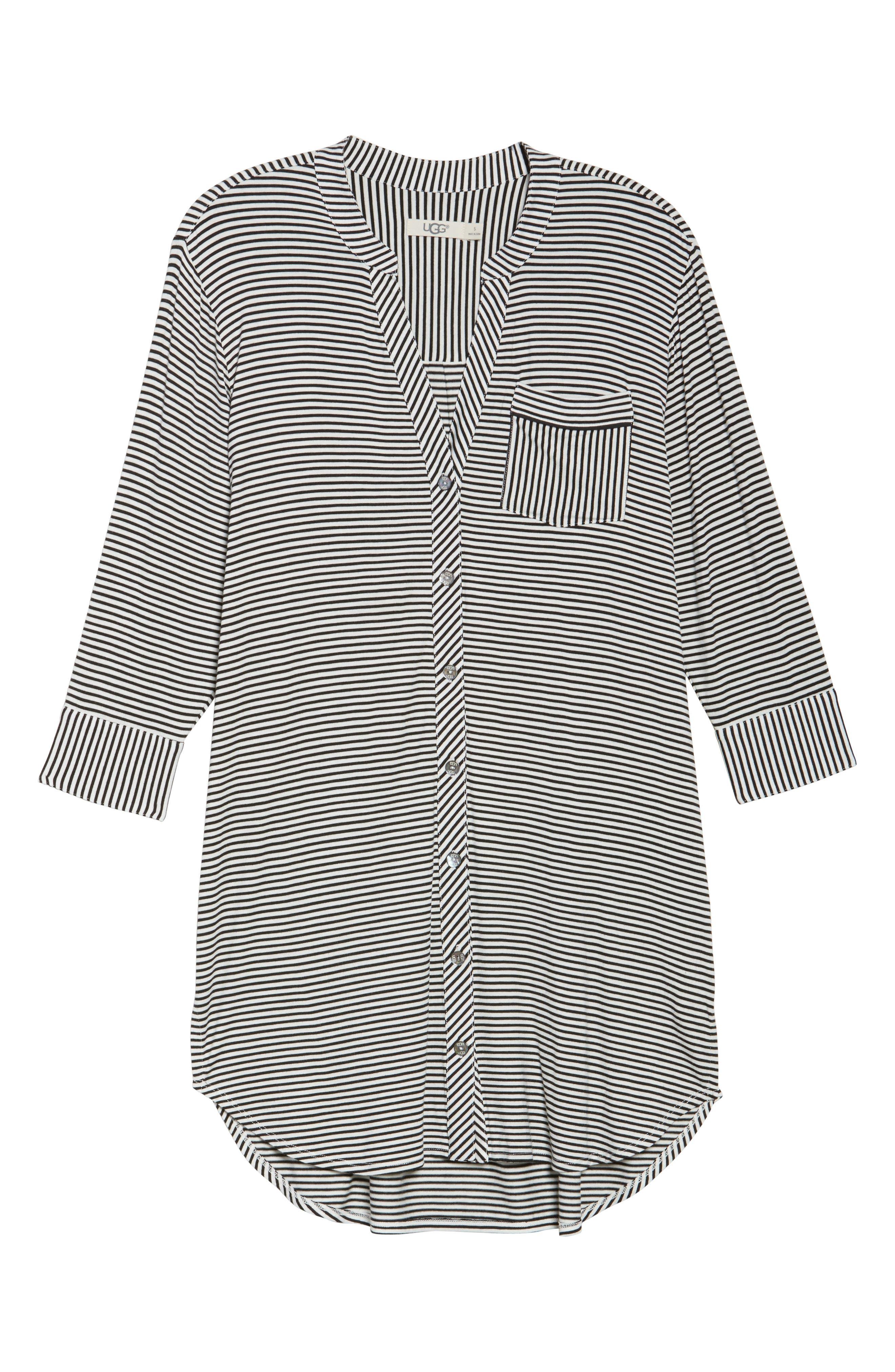 Vivian Sleep Shirt,                             Alternate thumbnail 6, color,                             002