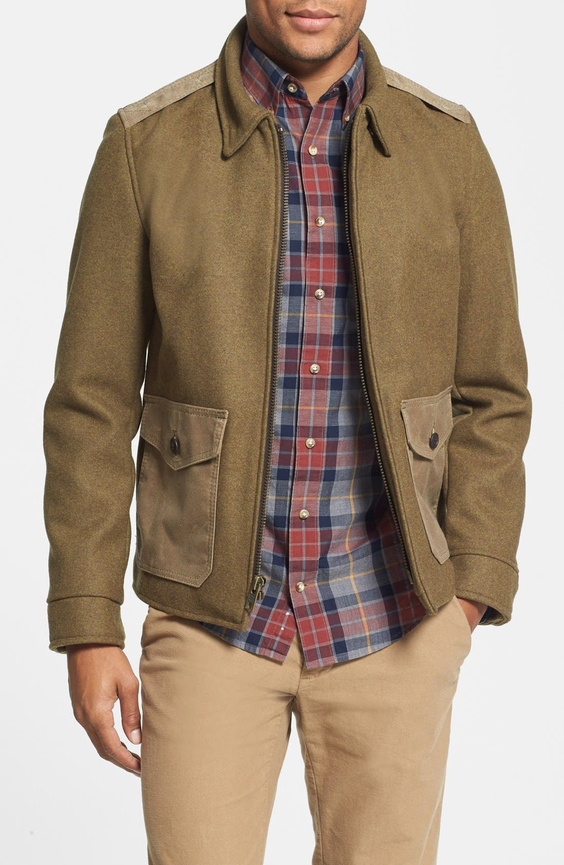 Wool Military Jacket,                         Main,                         color, 360