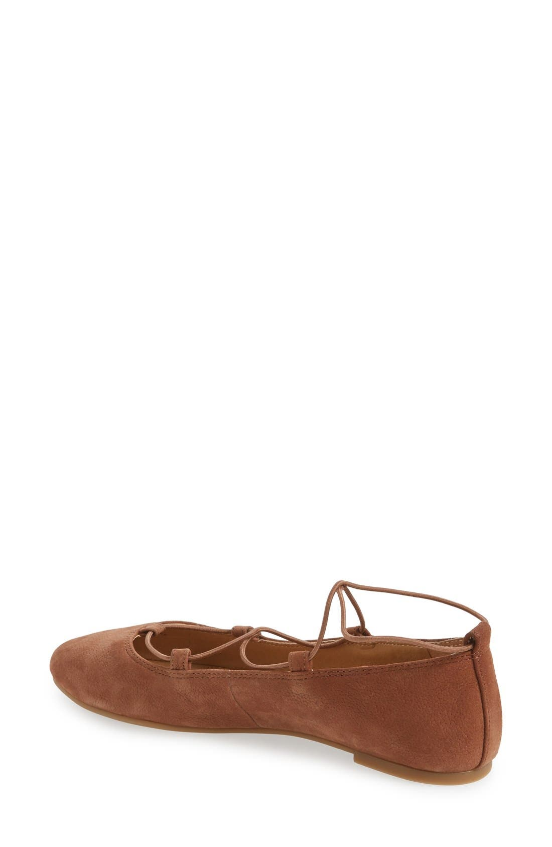 'Aviee' Lace-Up Flat,                             Alternate thumbnail 23, color,