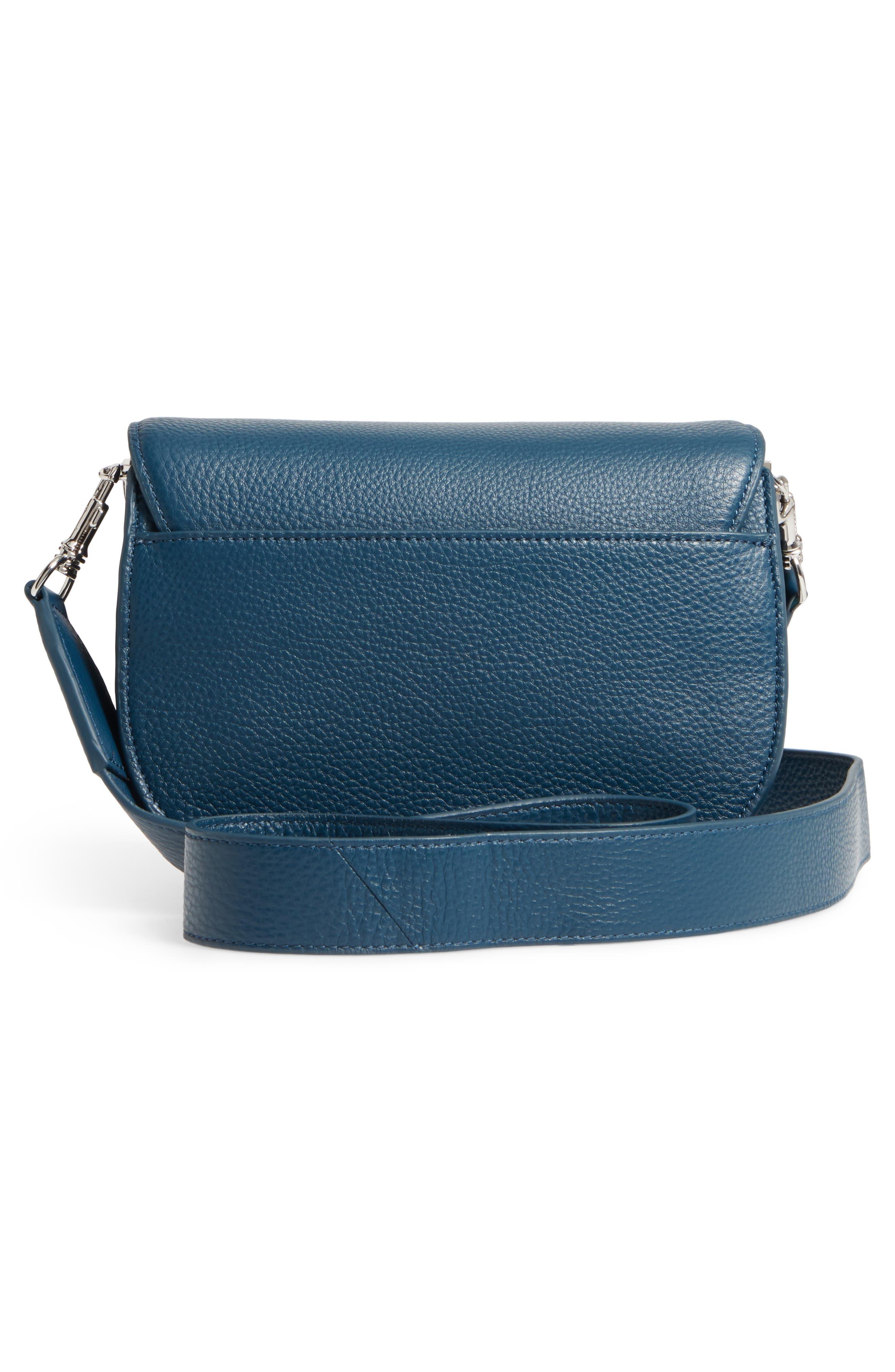 Landon Leather Crossbody Saddle Bag,                             Alternate thumbnail 10, color,
