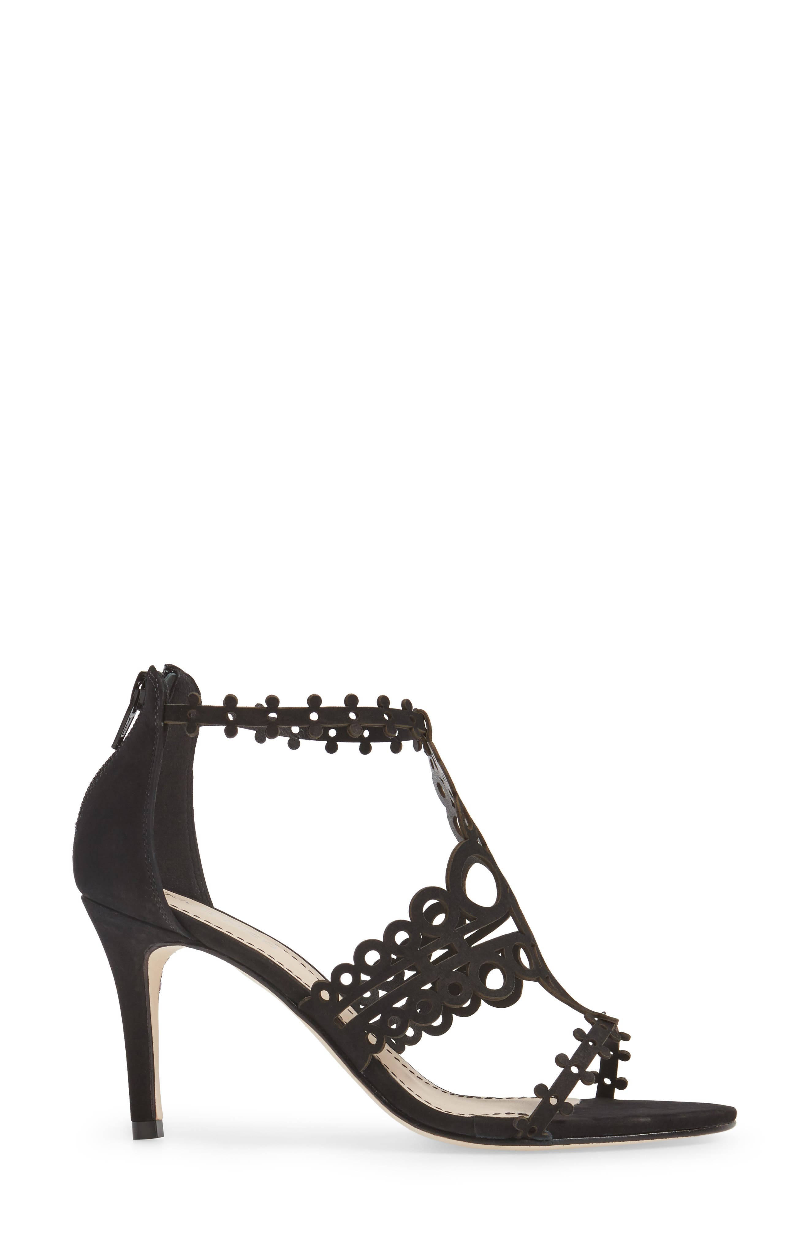 'Antonia' Laser Cut T-Strap Sandal,                             Alternate thumbnail 11, color,