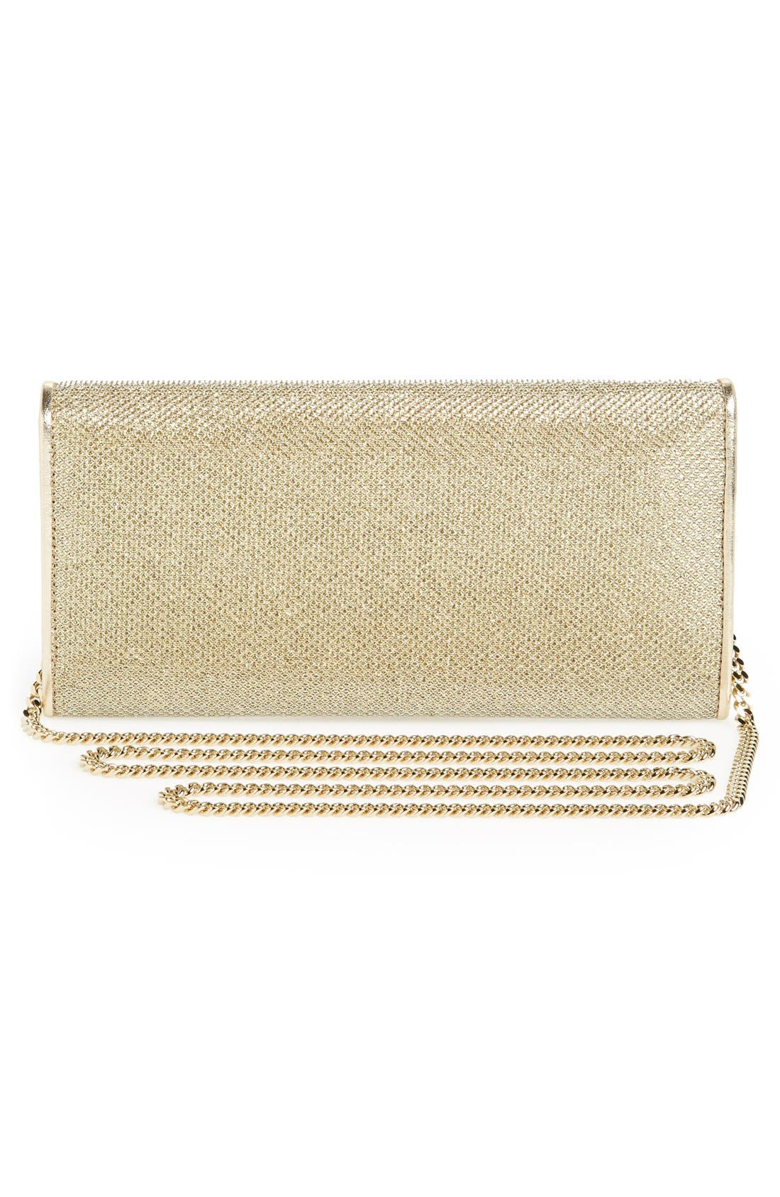 'Milla' Glitter Lamé Wallet on a Chain,                             Alternate thumbnail 9, color,