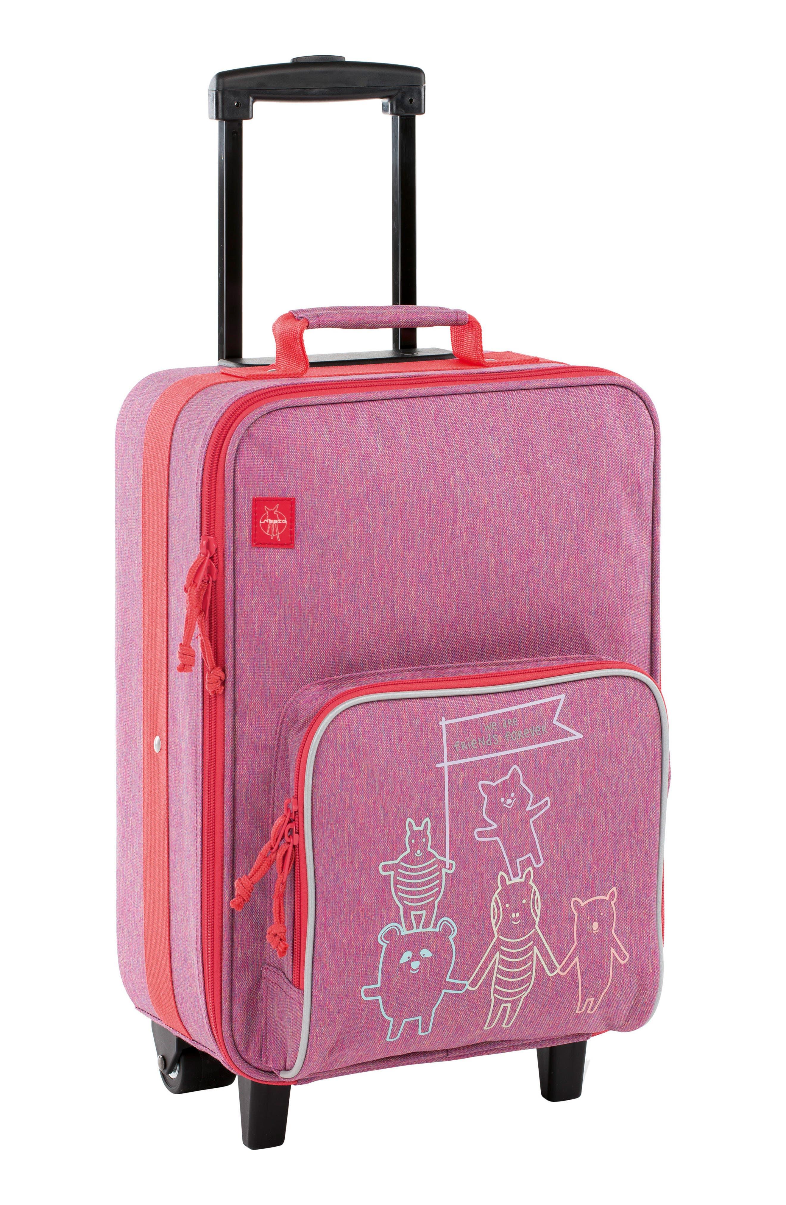 About Friends Rolling Suitcase,                             Main thumbnail 1, color,                             MELANGE PINK