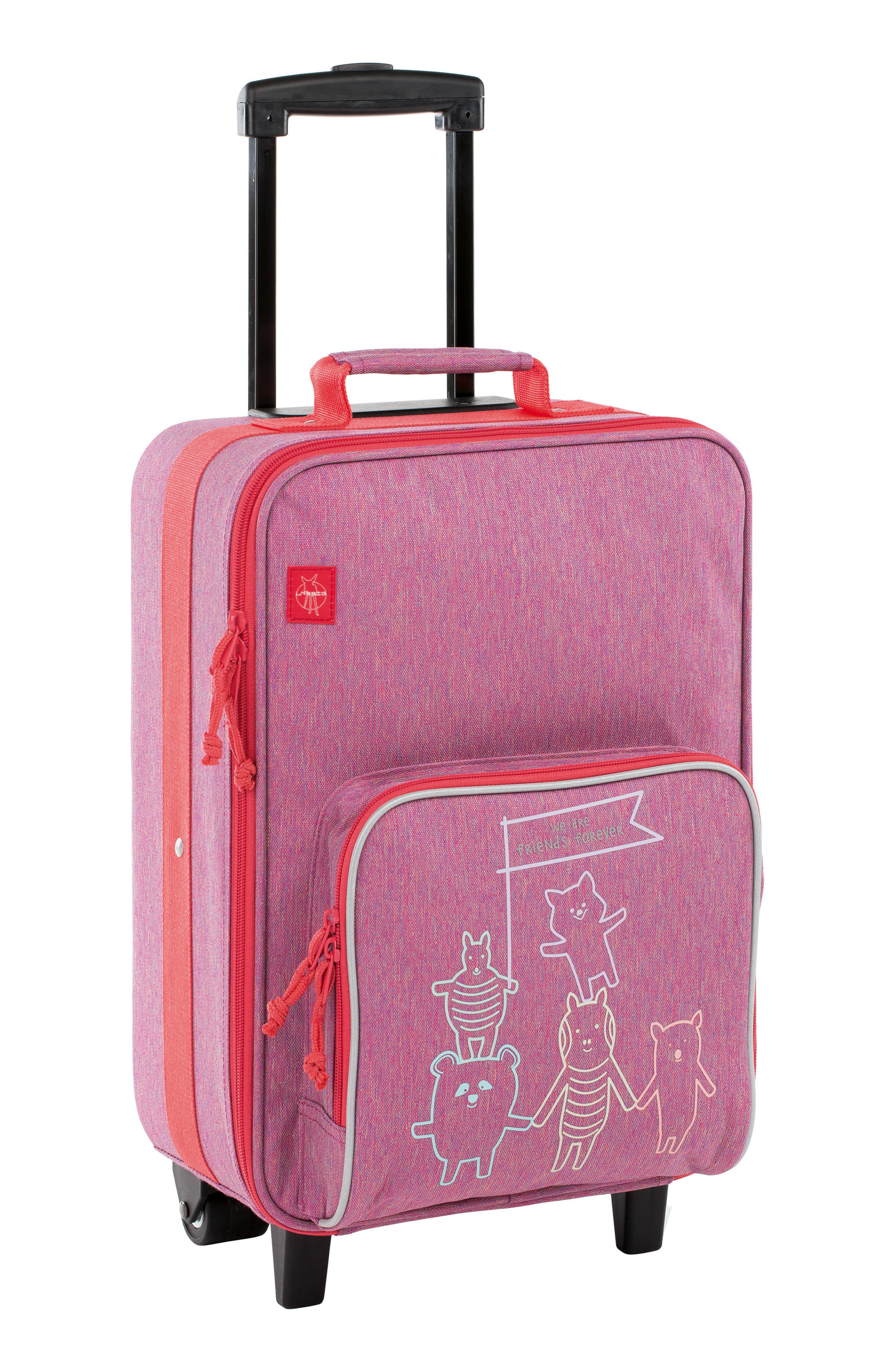 About Friends Rolling Suitcase,                         Main,                         color, MELANGE PINK