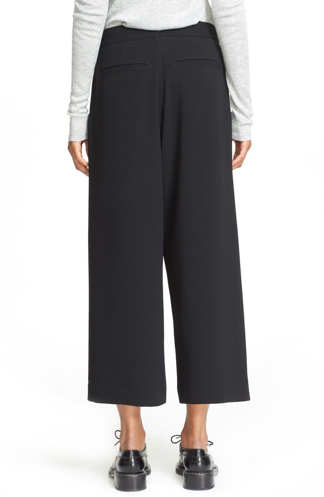 'Rowe' Pleat Crop Pants,                             Alternate thumbnail 4, color,                             001