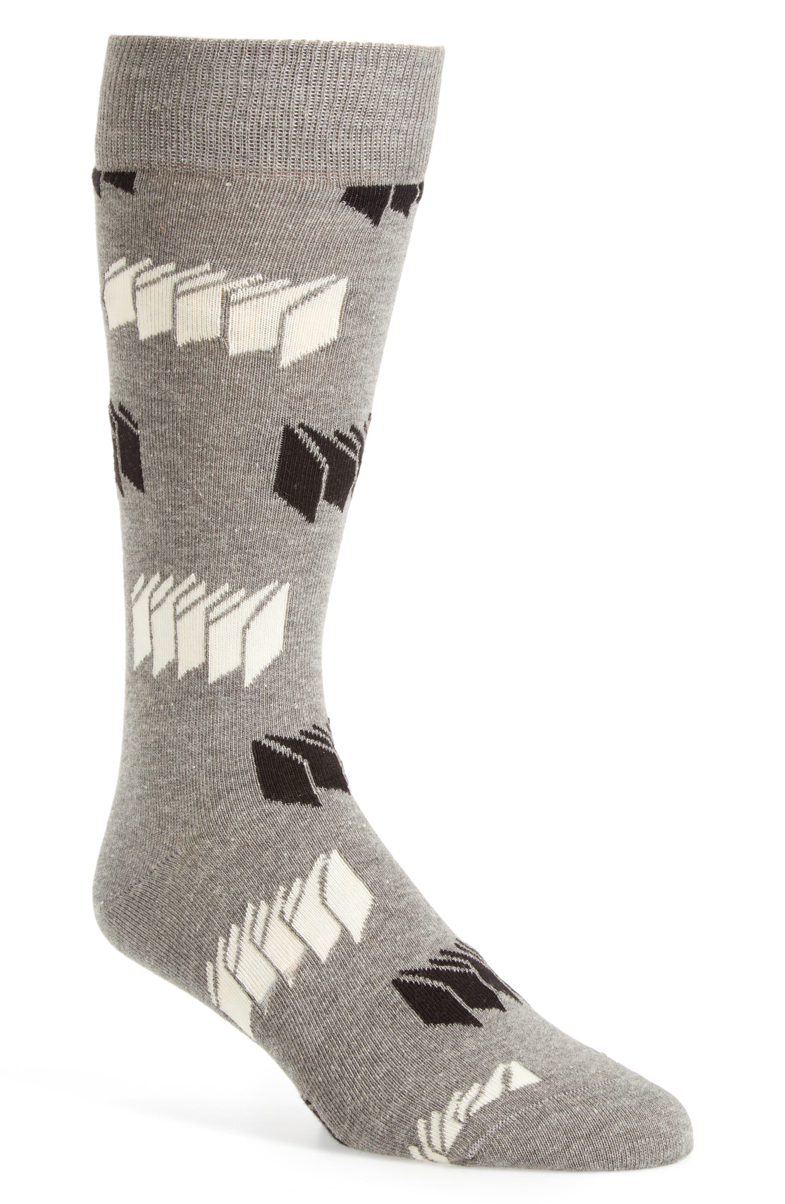 Optic Print Socks,                             Main thumbnail 1, color,                             020