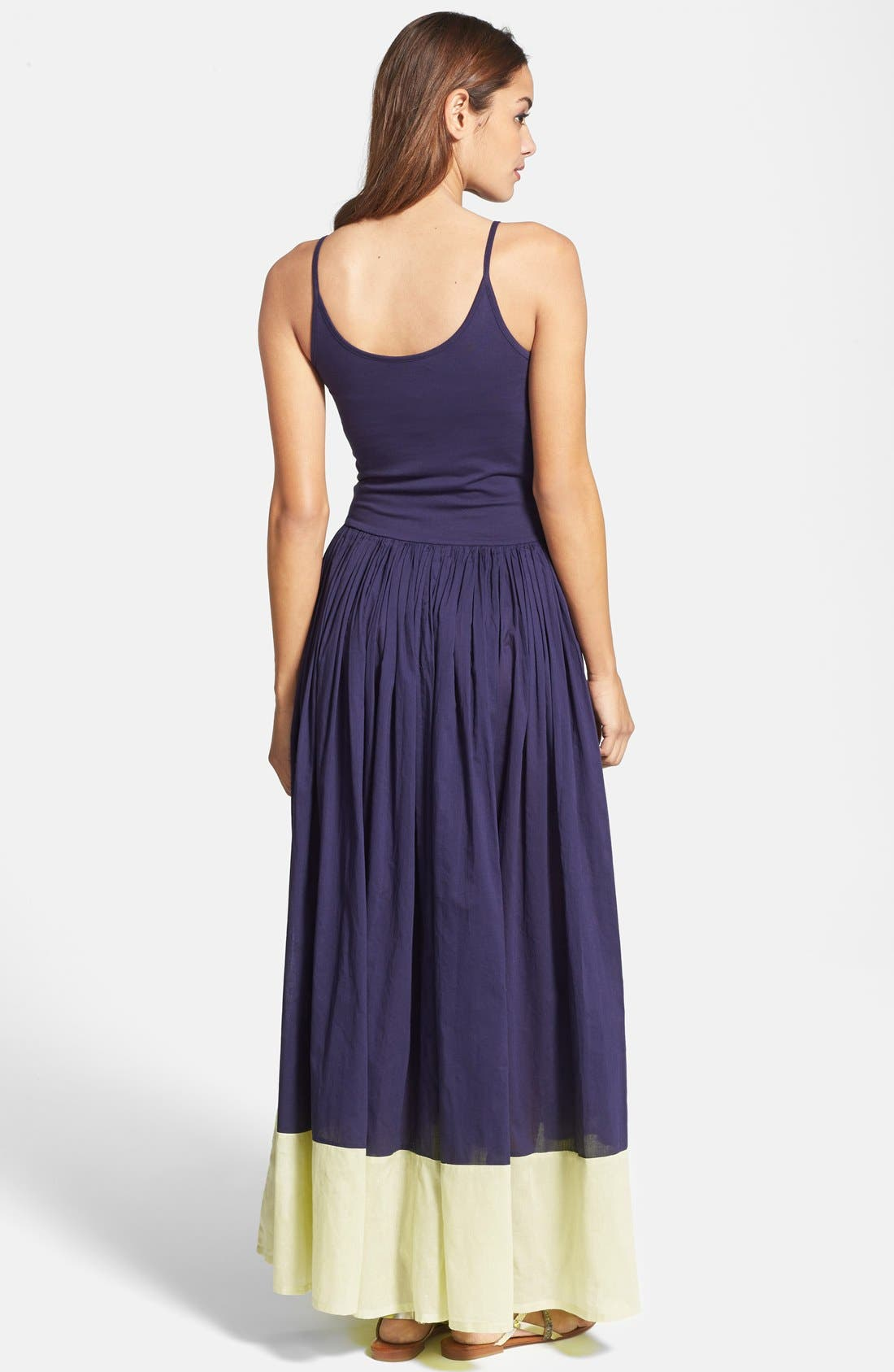'Marionette' Cotton Maxi Dress,                             Alternate thumbnail 3, color,                             499