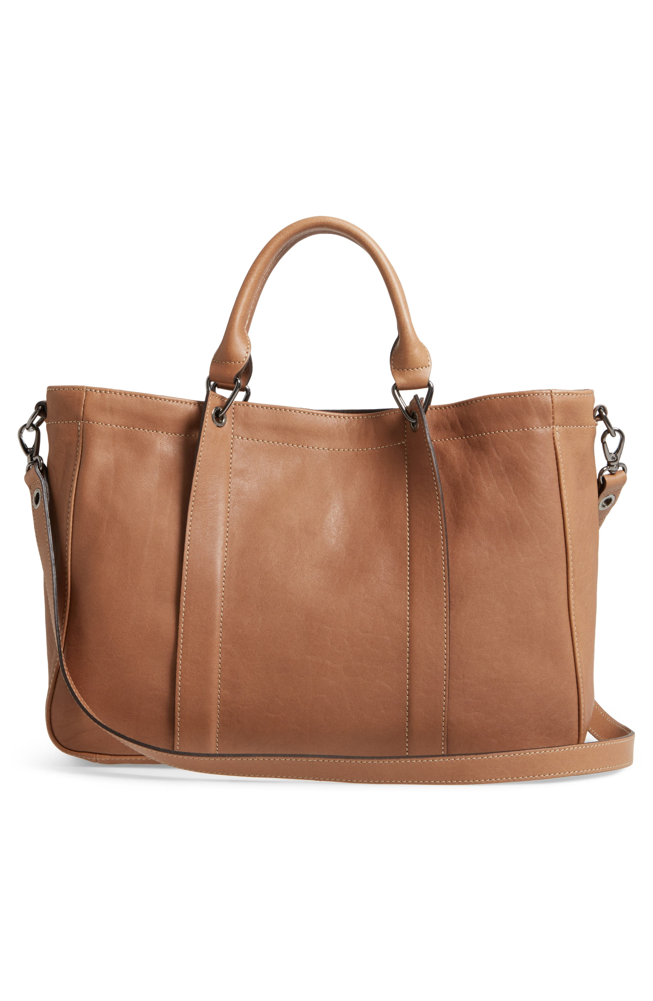 3D Leather Tote,                             Alternate thumbnail 3, color,                             250