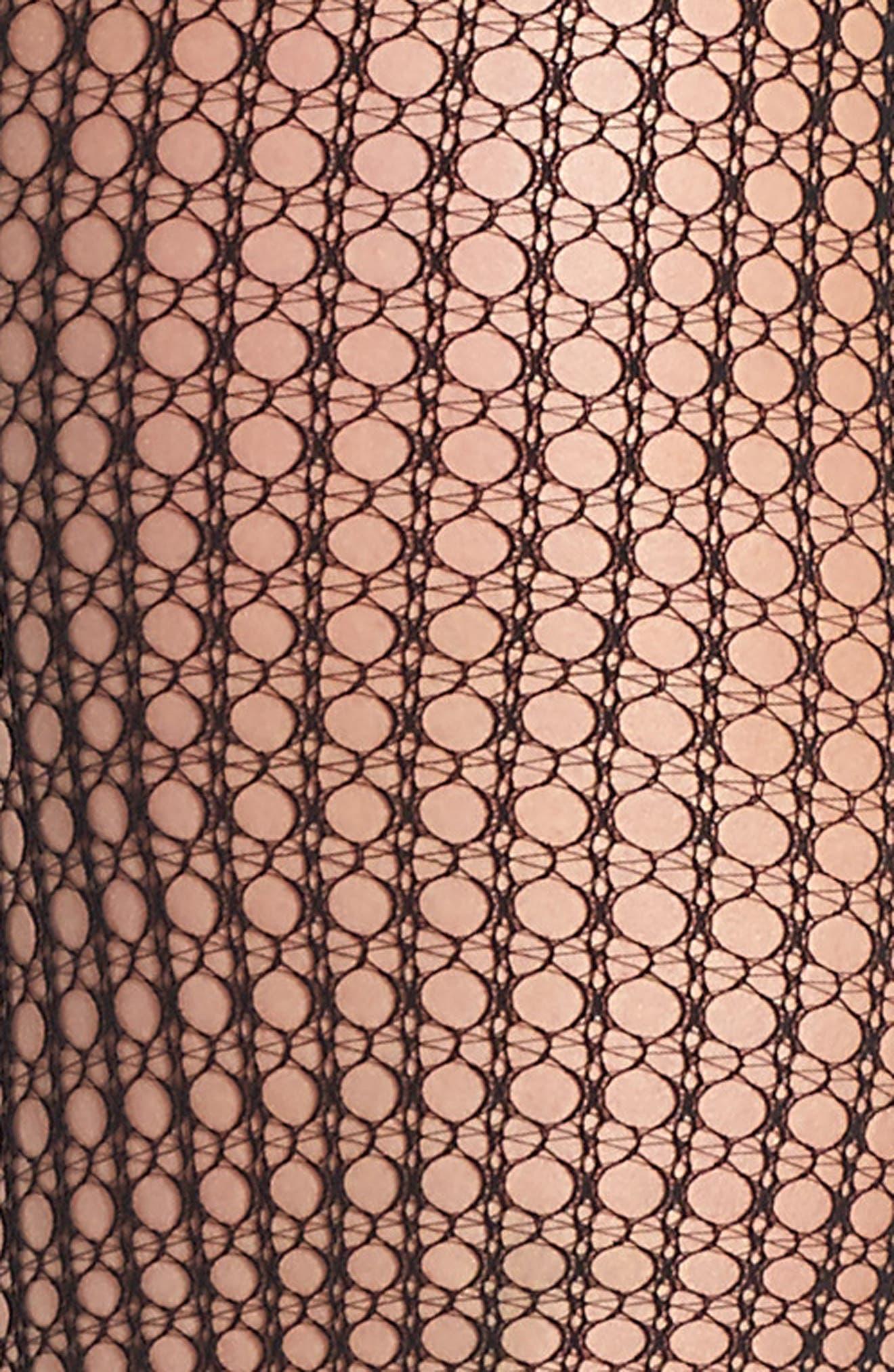 Mini Geometric Net Tights,                             Alternate thumbnail 2, color,                             001