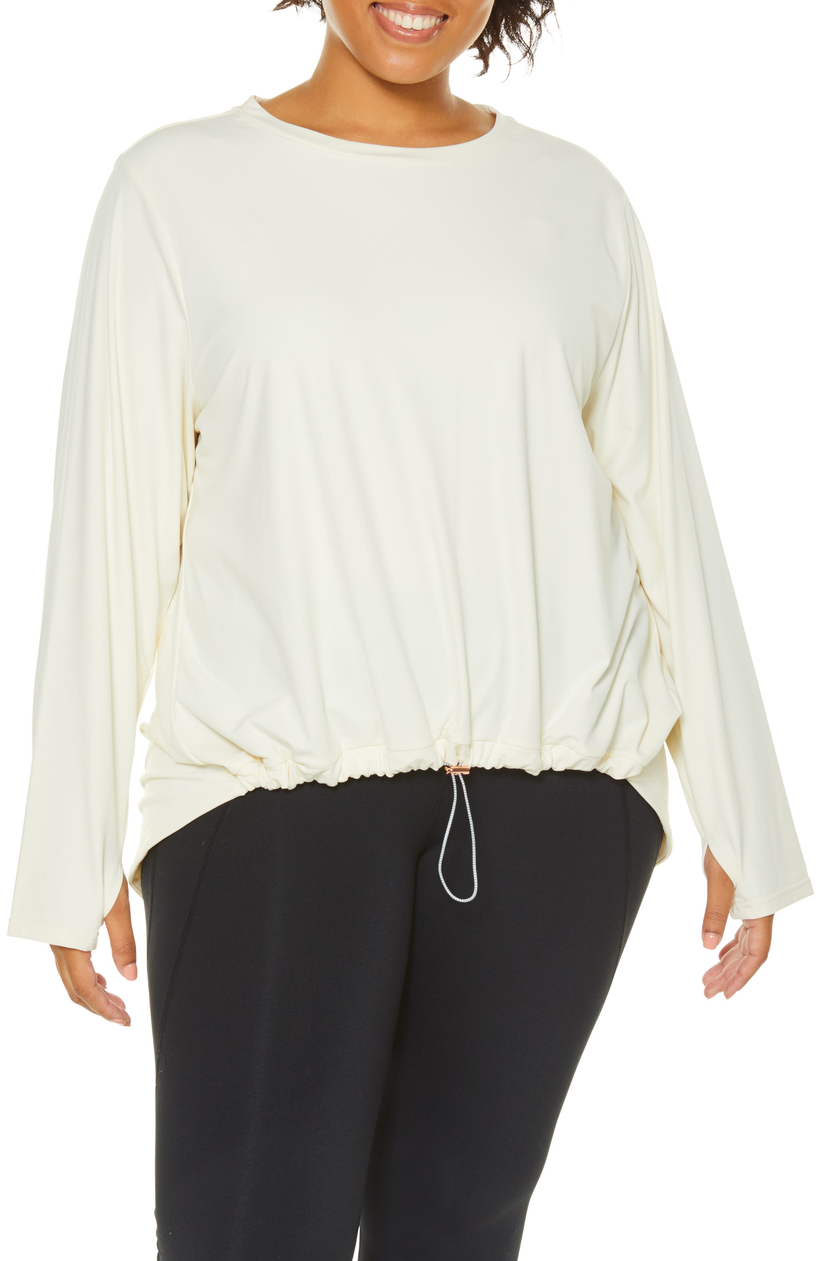 Opt Out High/Low Sweatshirt,                         Main,                         color, PRISTINE