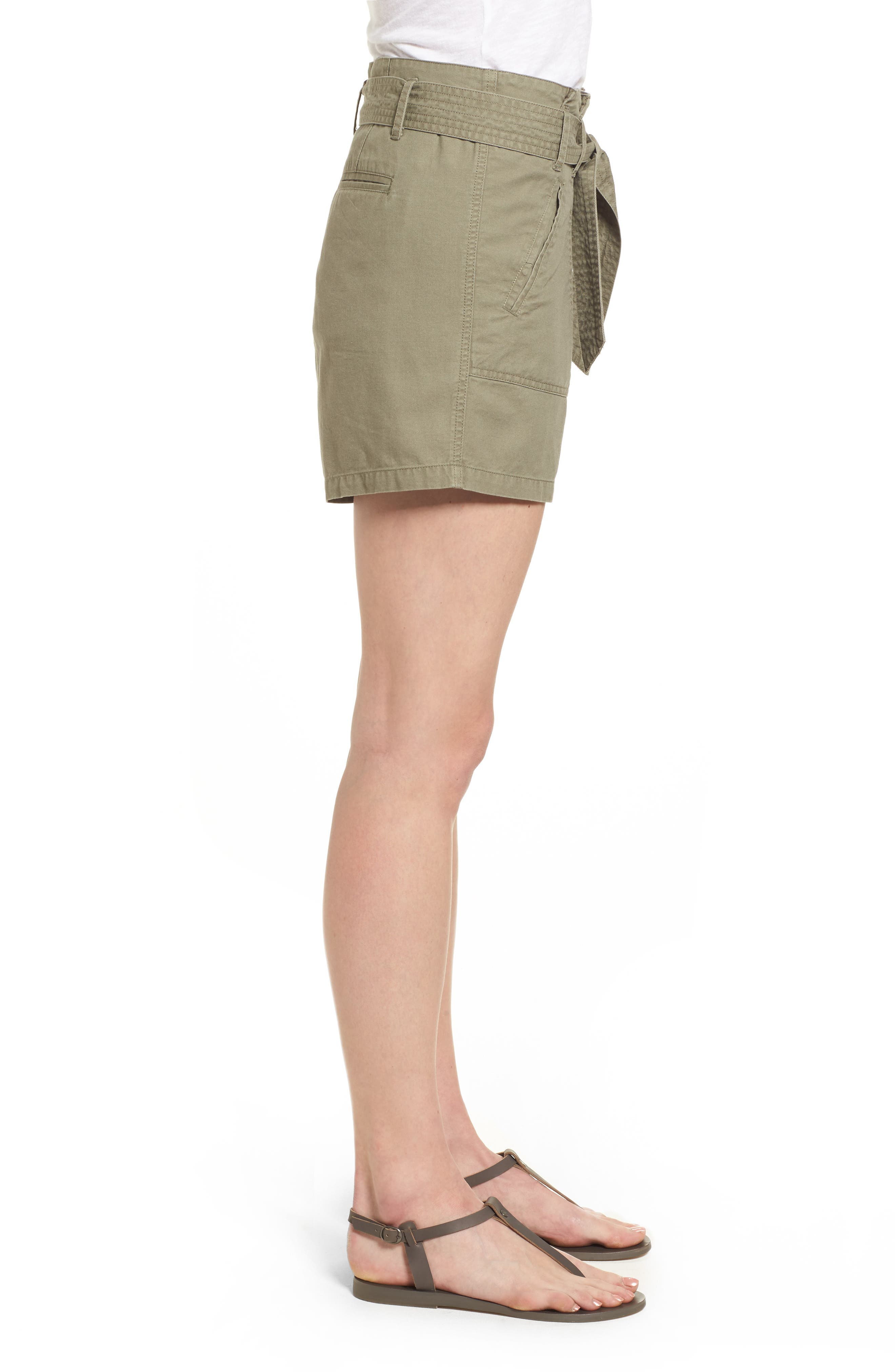 Belted Twill Shorts,                             Alternate thumbnail 11, color,