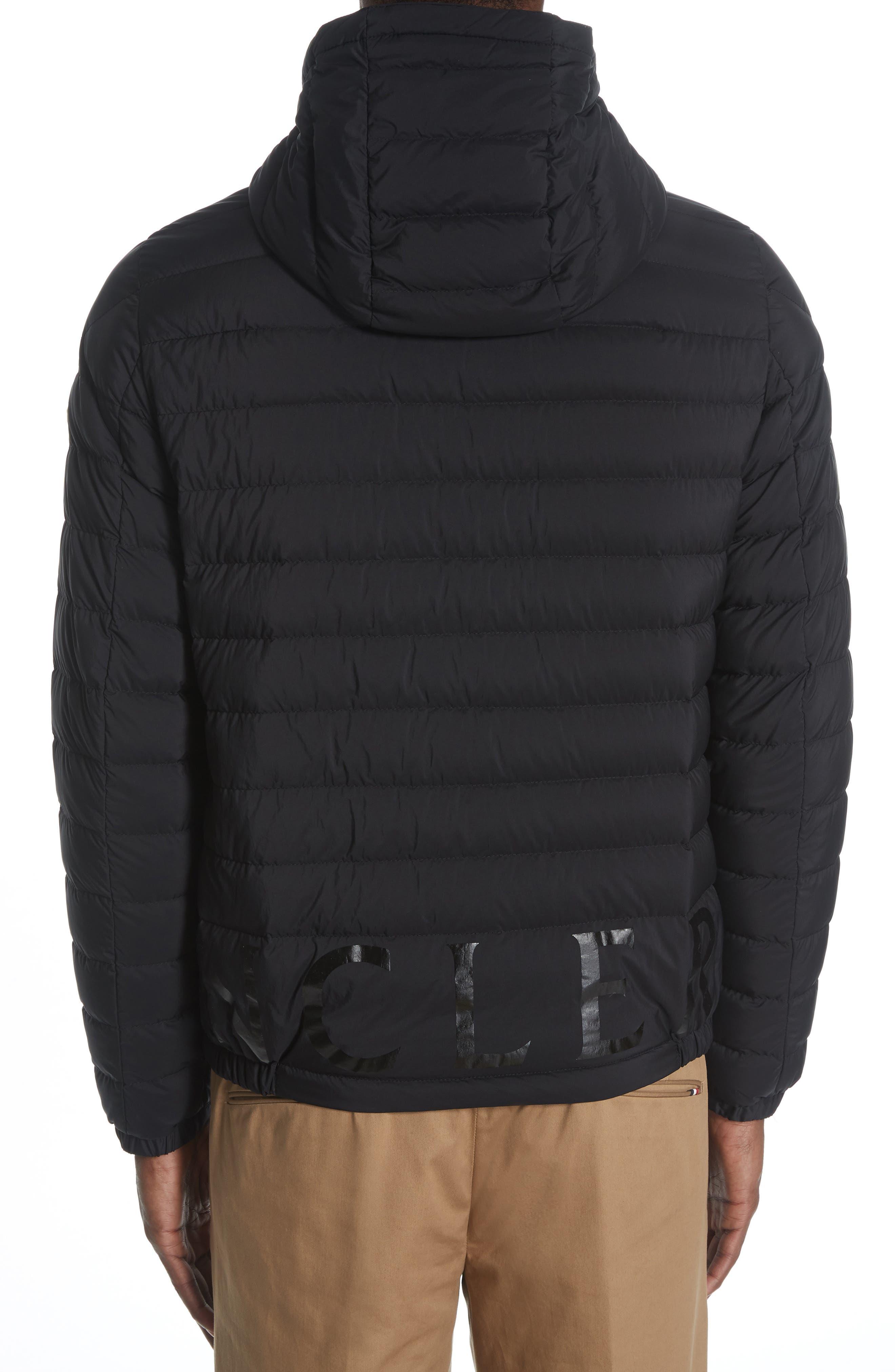 MONCLER,                             Dreux Hooded Down Jacket,                             Alternate thumbnail 2, color,                             BLACK