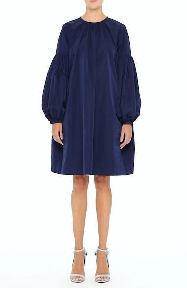 Ruched Sleeve Taffeta Dress, video thumbnail