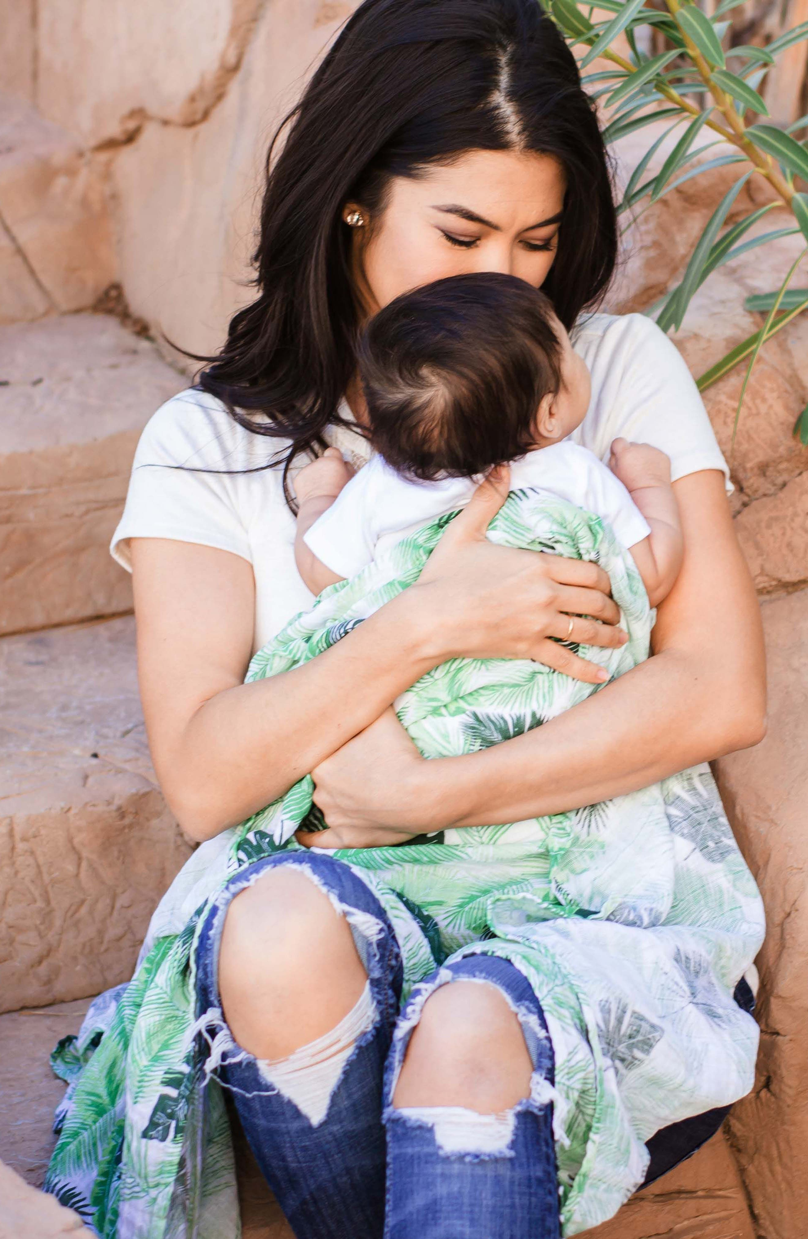 Classic 2-Pack Muslin Swaddle Blankets,                             Alternate thumbnail 3, color,                             RIO/ PALMS