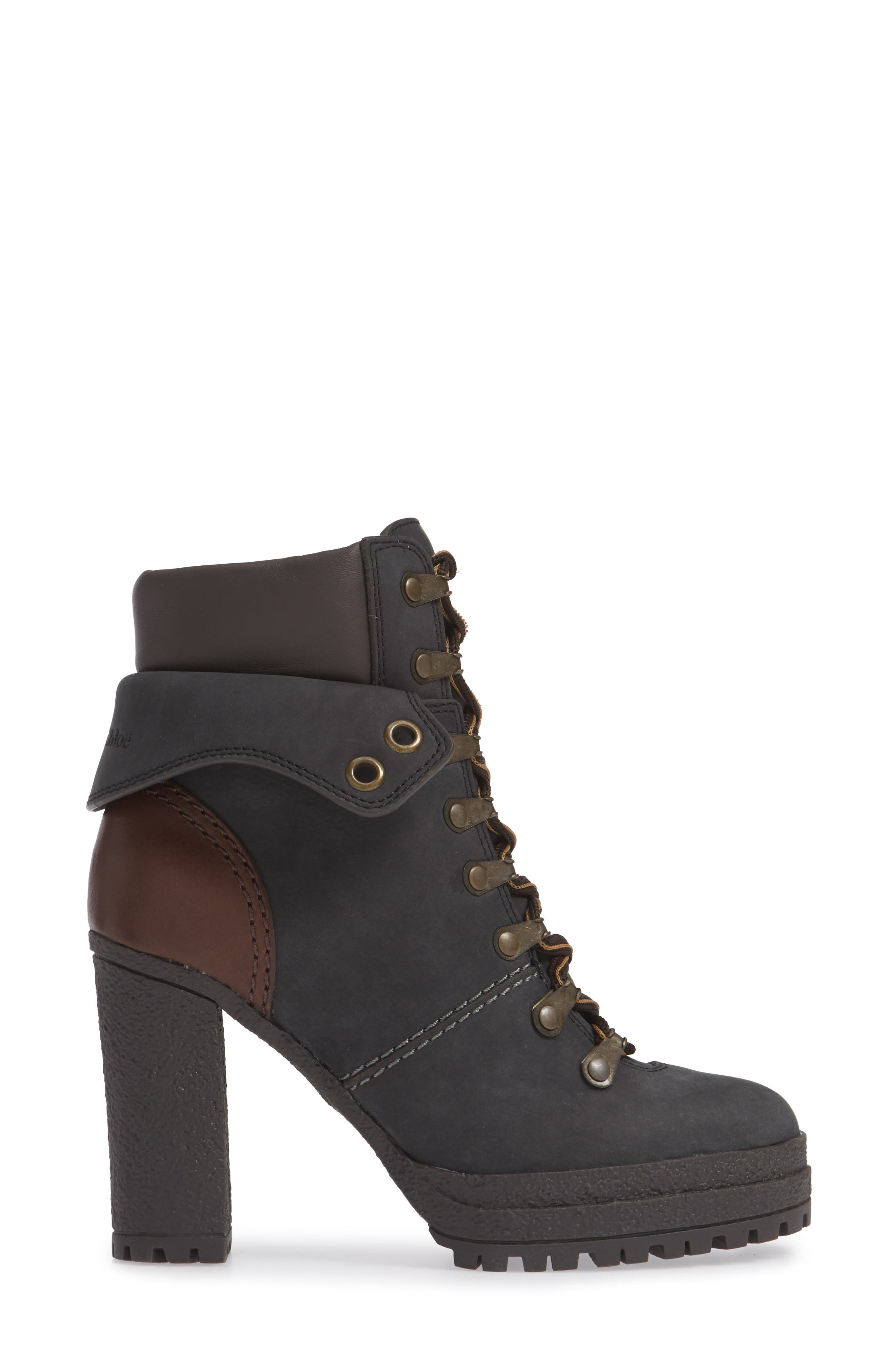 Eileen Platform Boot,                             Alternate thumbnail 3, color,                             BLACK