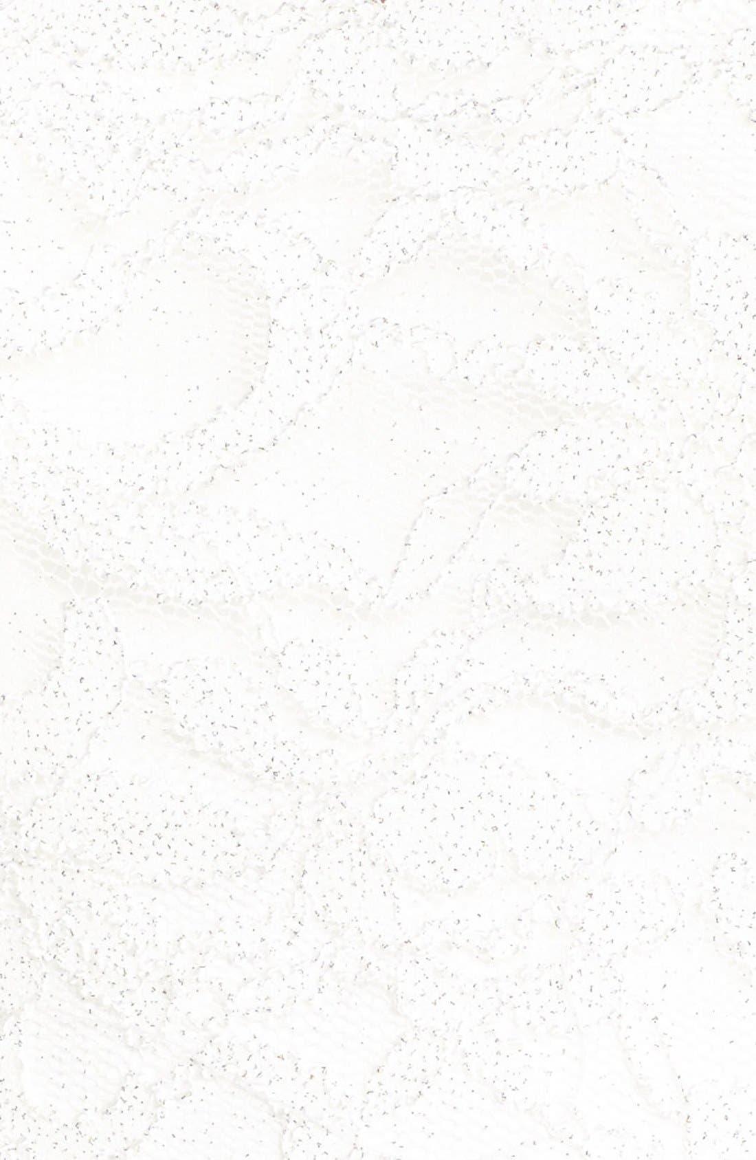 Lace Two-Piece Skater Dress,                             Alternate thumbnail 4, color,                             100