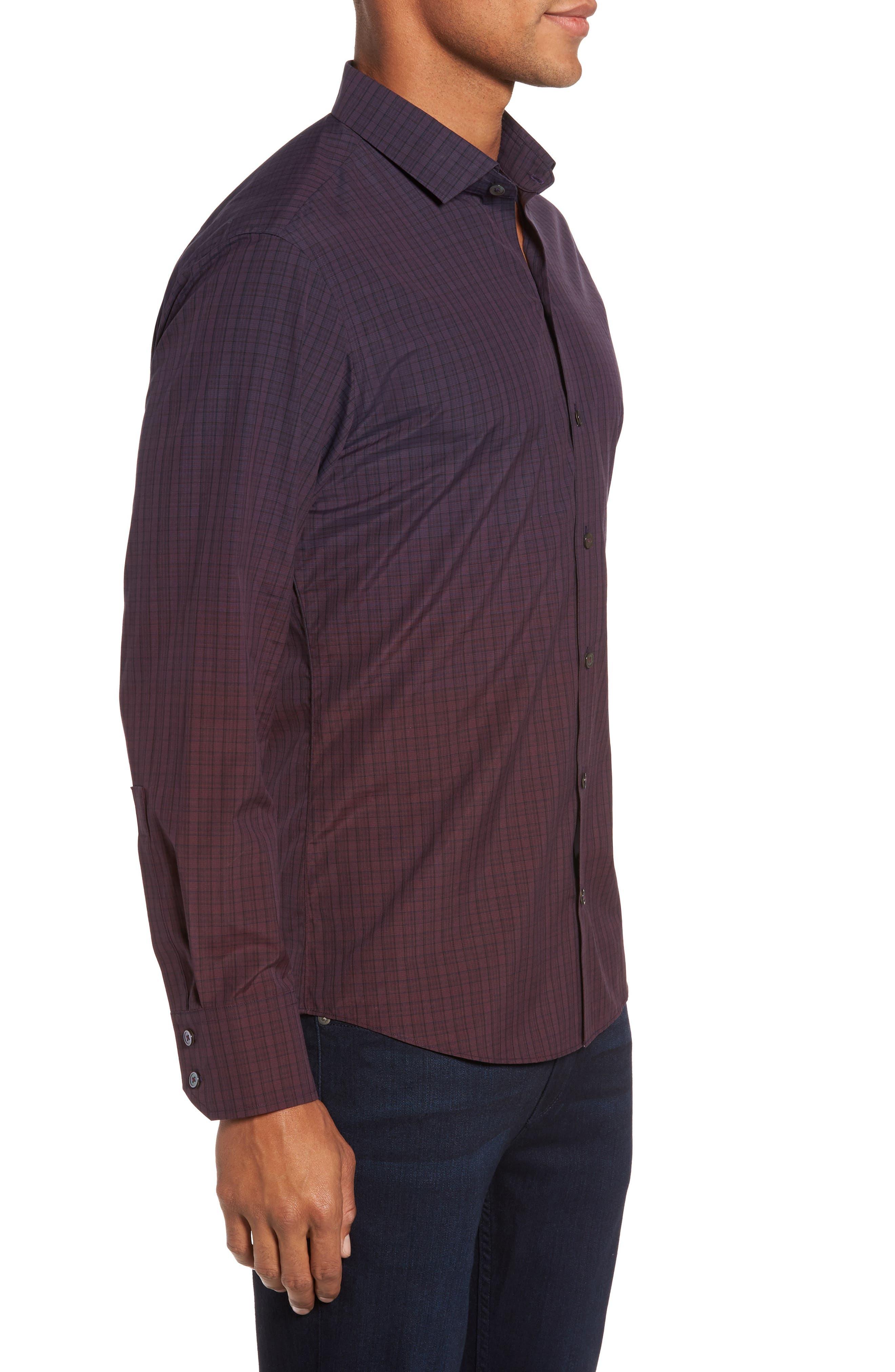 Wein Slim Fit Check Sport Shirt,                             Alternate thumbnail 6, color,