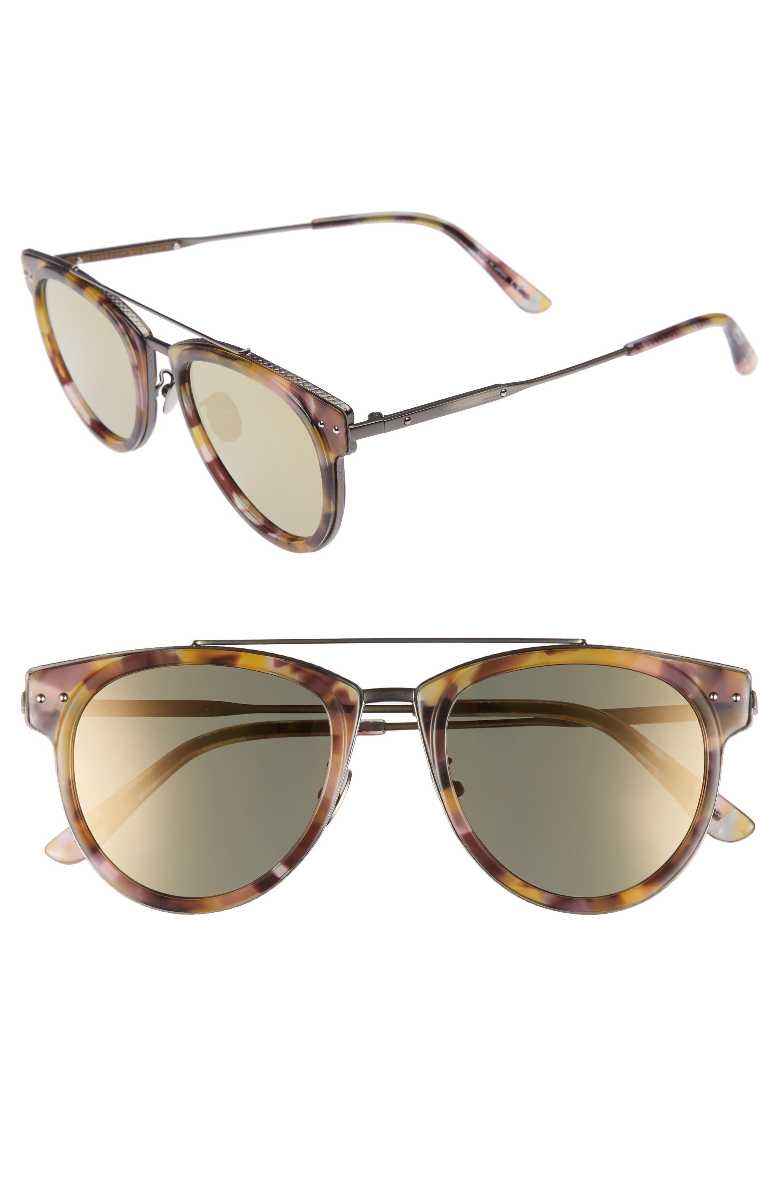 50mm Sunglasses,                             Main thumbnail 1, color,                             AVANA BROWN