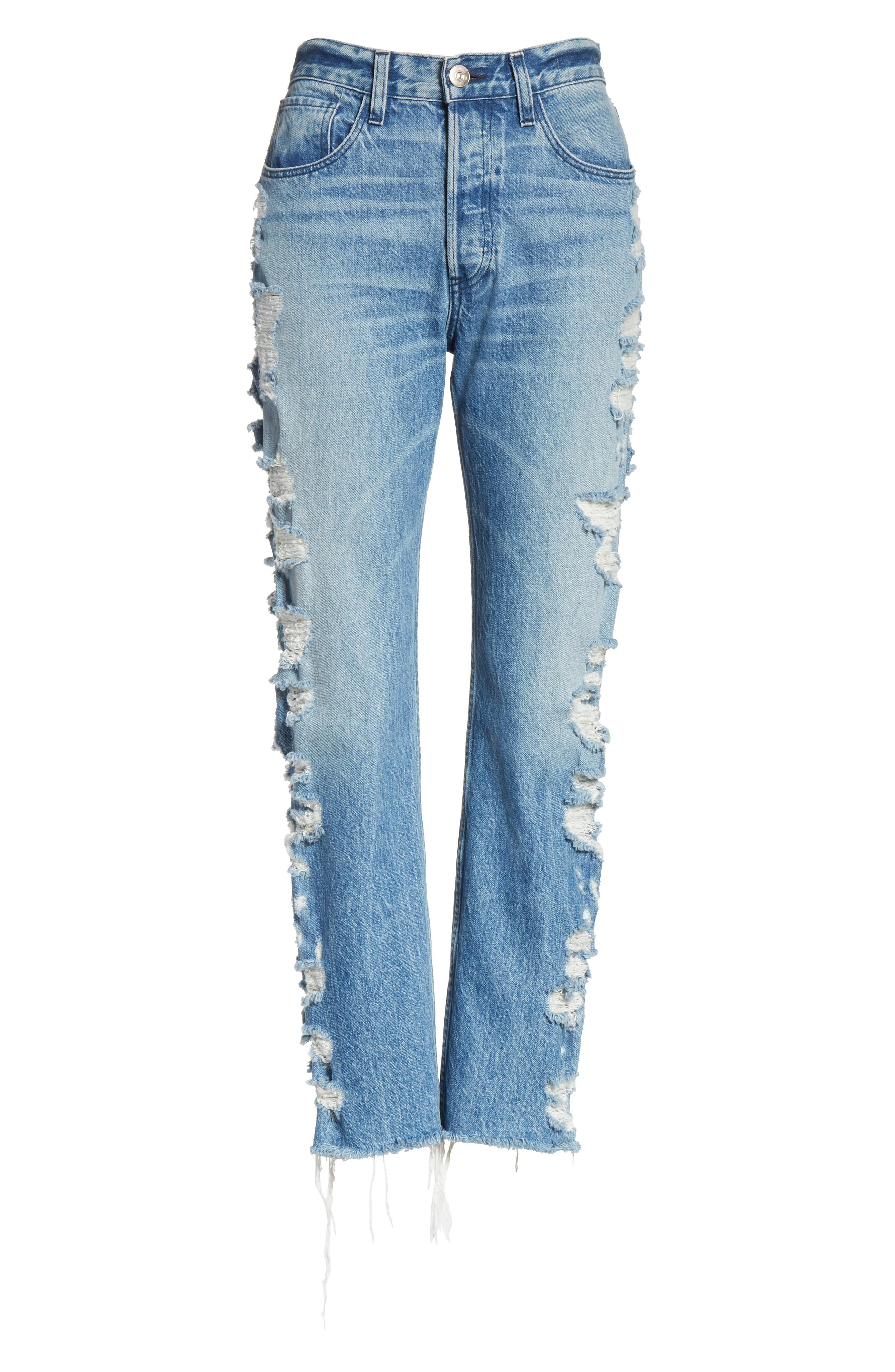 W3 Higher Ground Bleached Ankle Slim Fit Jeans,                             Alternate thumbnail 25, color,