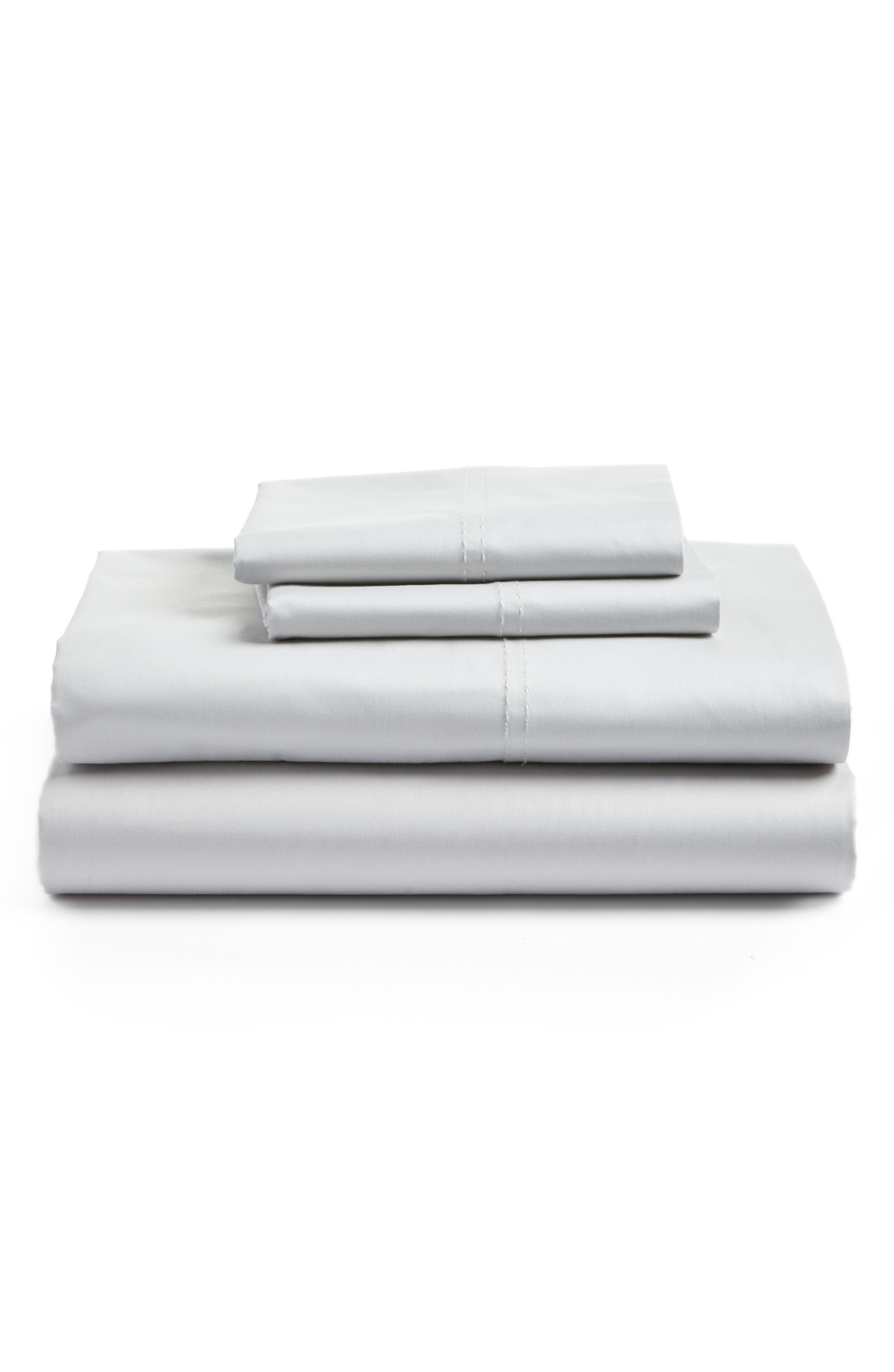 400 Thread Count Organic Cotton Sateen Sheet Set,                             Main thumbnail 9, color,