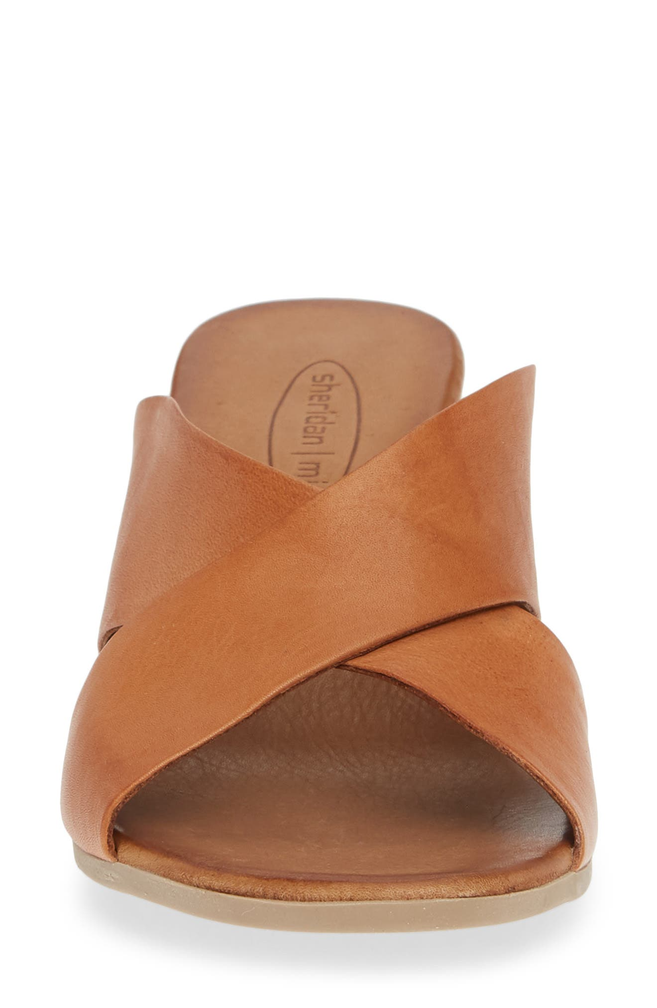 SHERIDAN MIA,                             Tonia Slide Sandal,                             Alternate thumbnail 4, color,                             COGNAC LEATHER