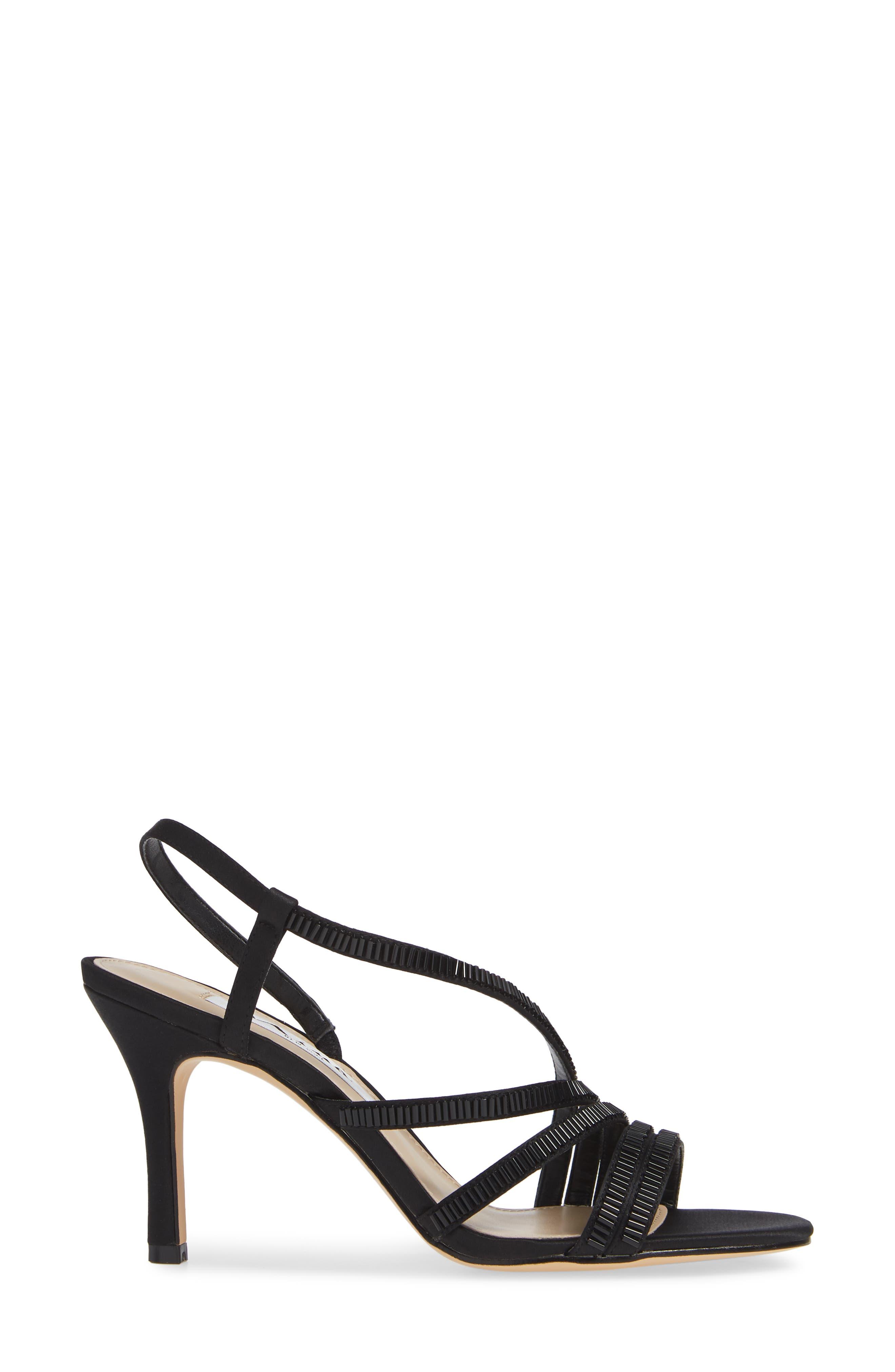Amani Asymmetrical Strappy Slingback Sandal,                             Alternate thumbnail 3, color,                             003