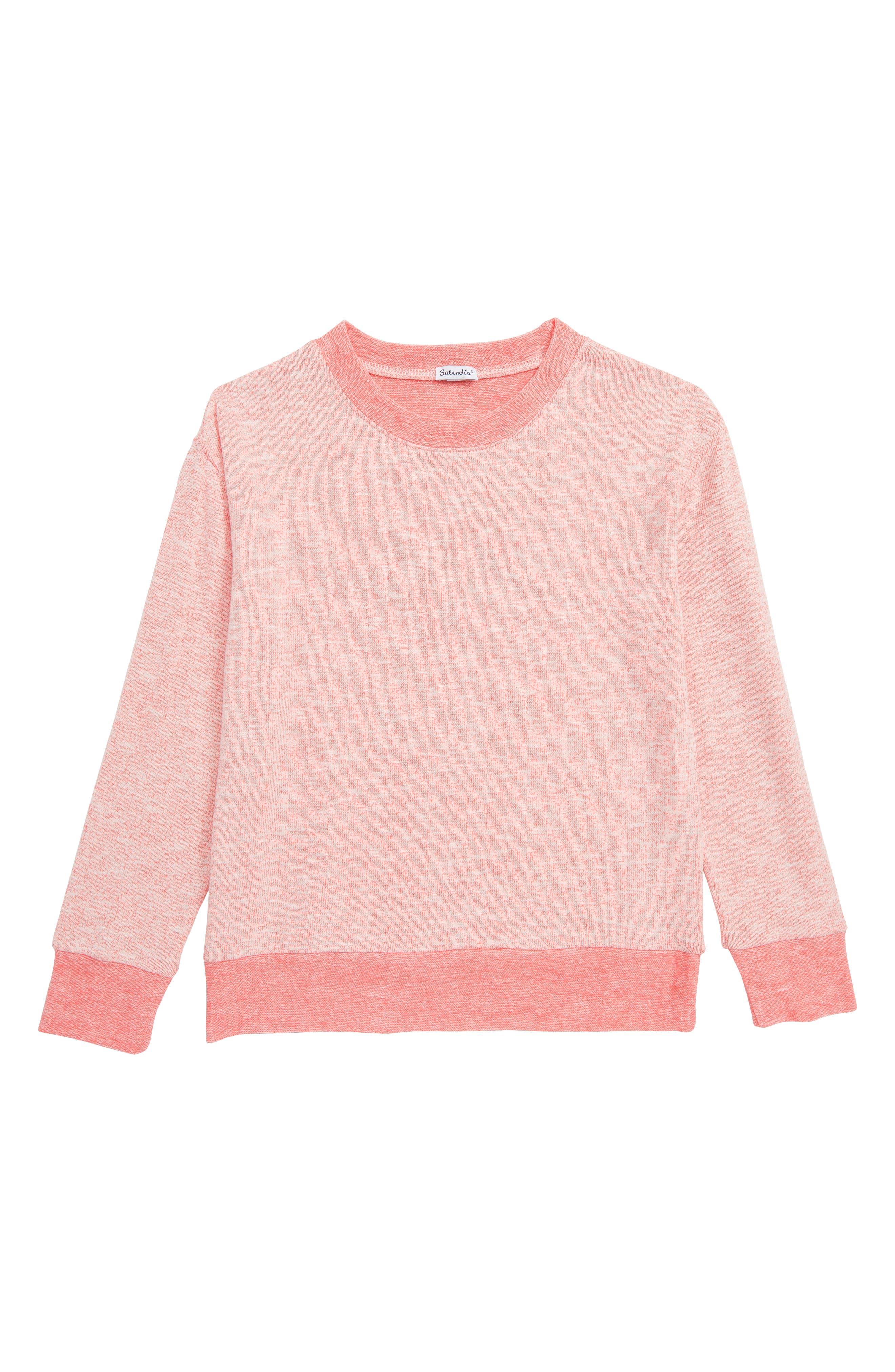 SPLENDID Knit Top, Main, color, SHANGRI LA ROSE