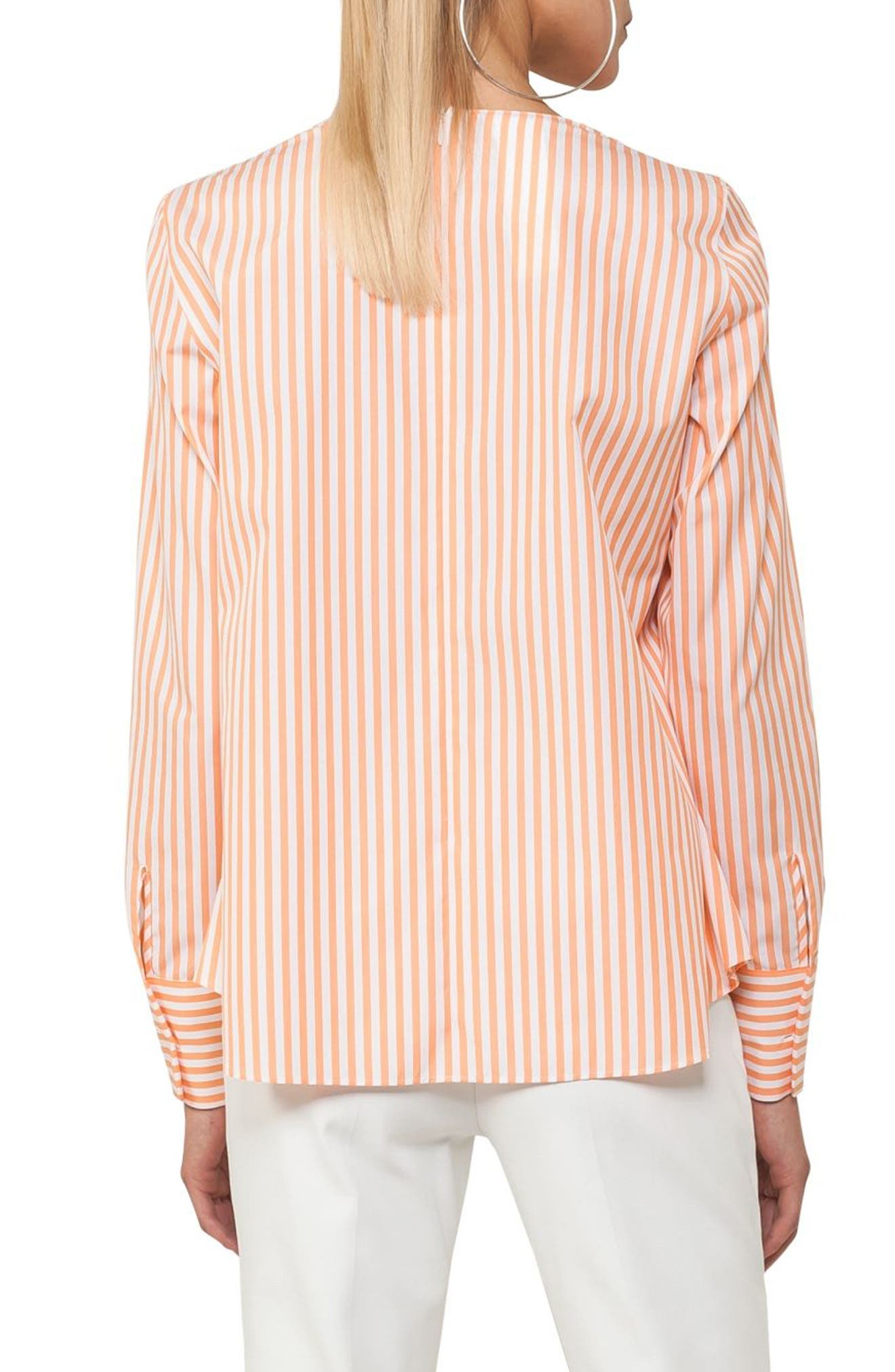Stripe A-Line Cotton Blouse,                             Alternate thumbnail 2, color,                             862