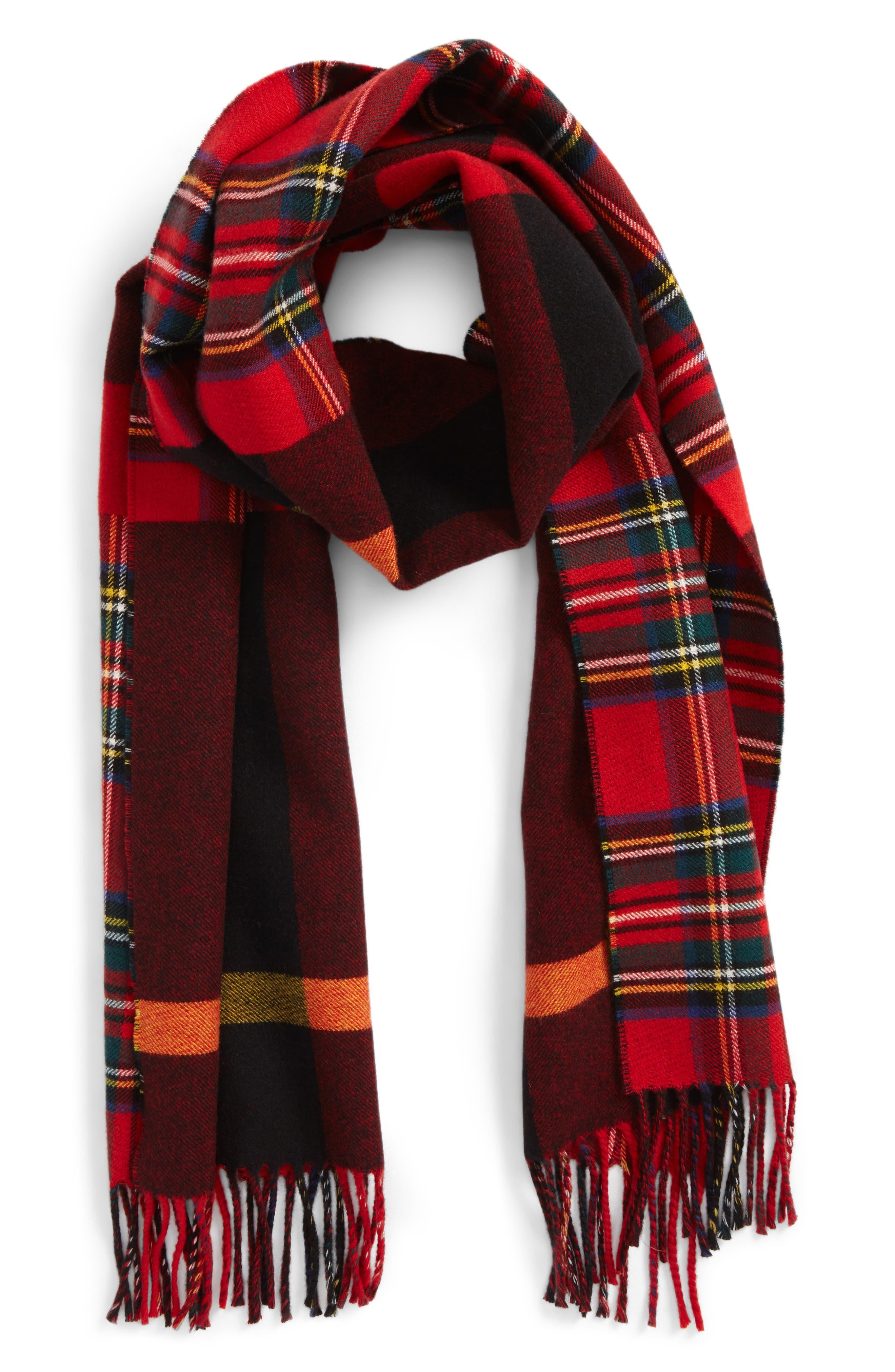 Check Wool Scarf,                             Main thumbnail 2, color,