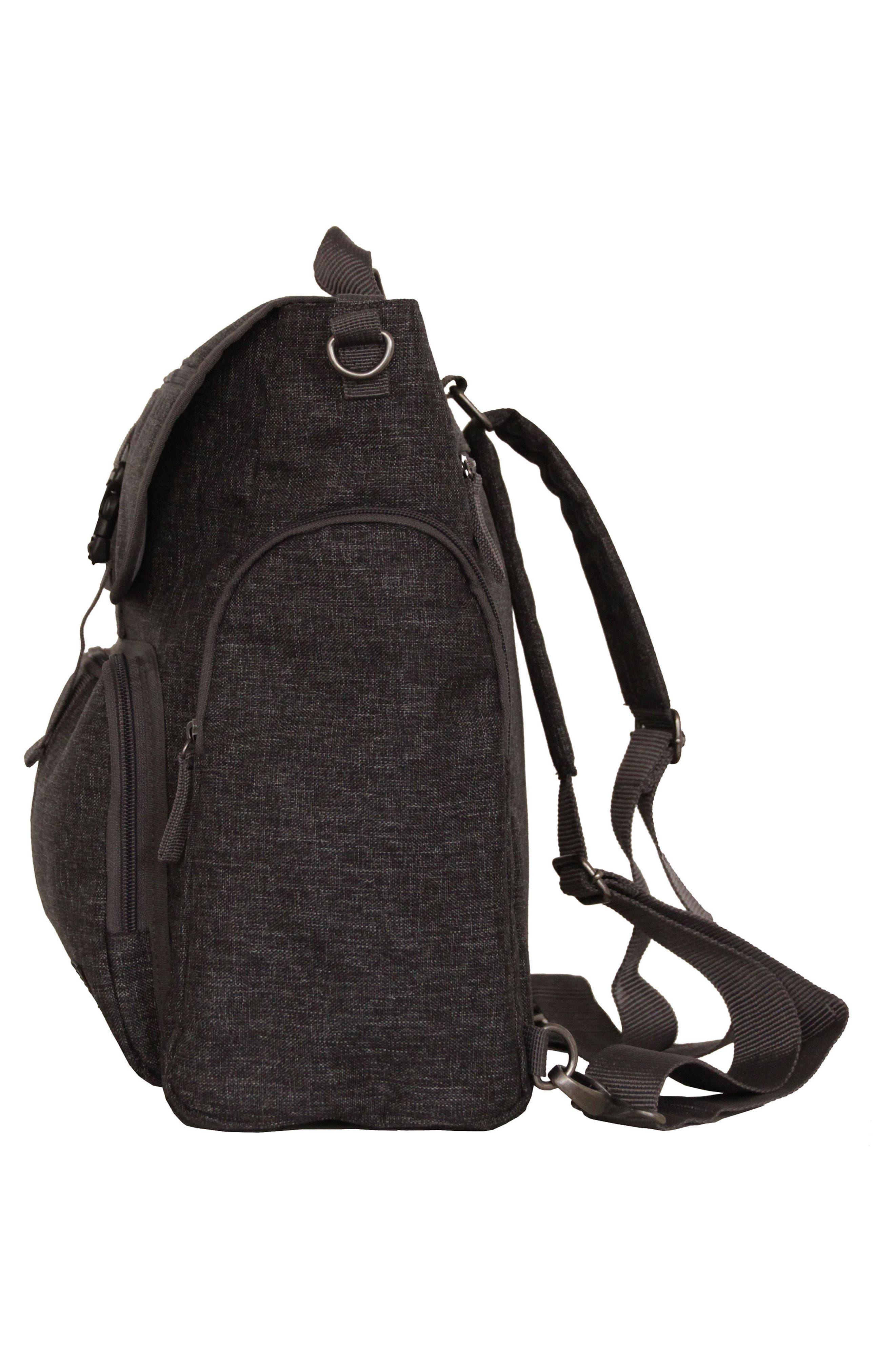 Convertible Diaper Backpack,                             Alternate thumbnail 5, color,                             001