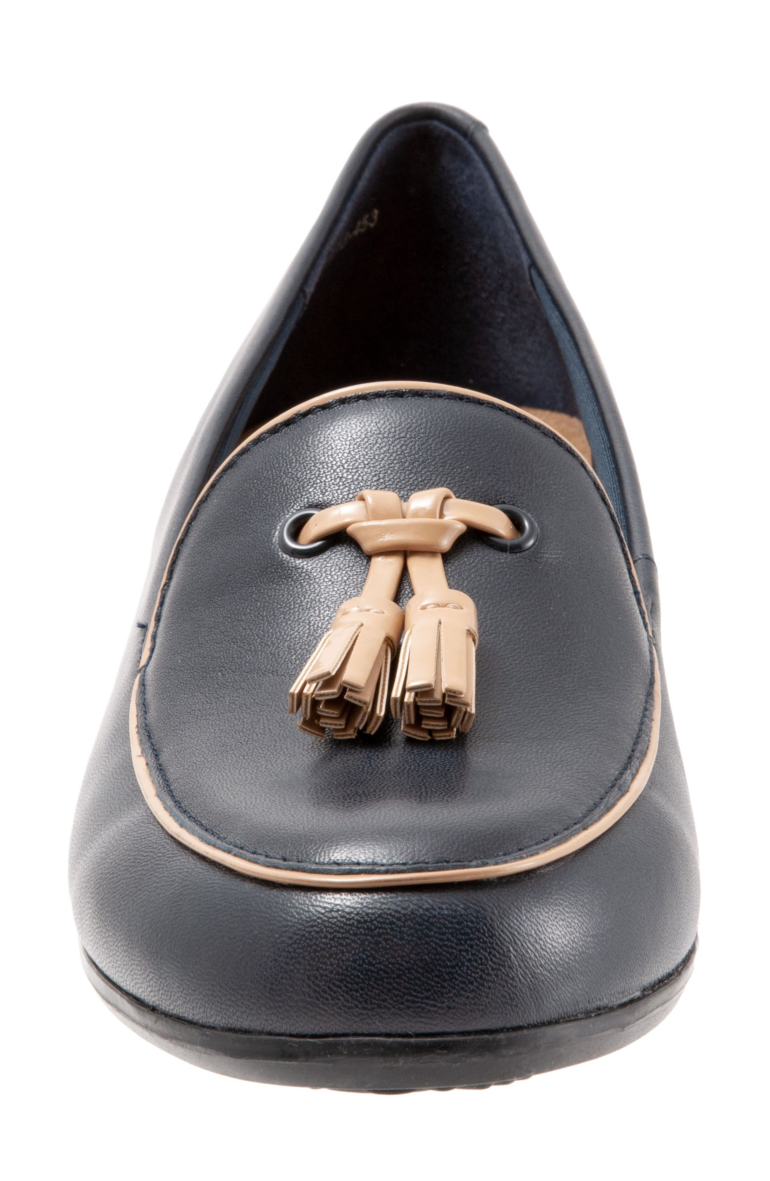 TROTTERS,                             Mary Tassel Loafer,                             Alternate thumbnail 4, color,                             NAVY LEATHER