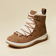 A lace-up boot.