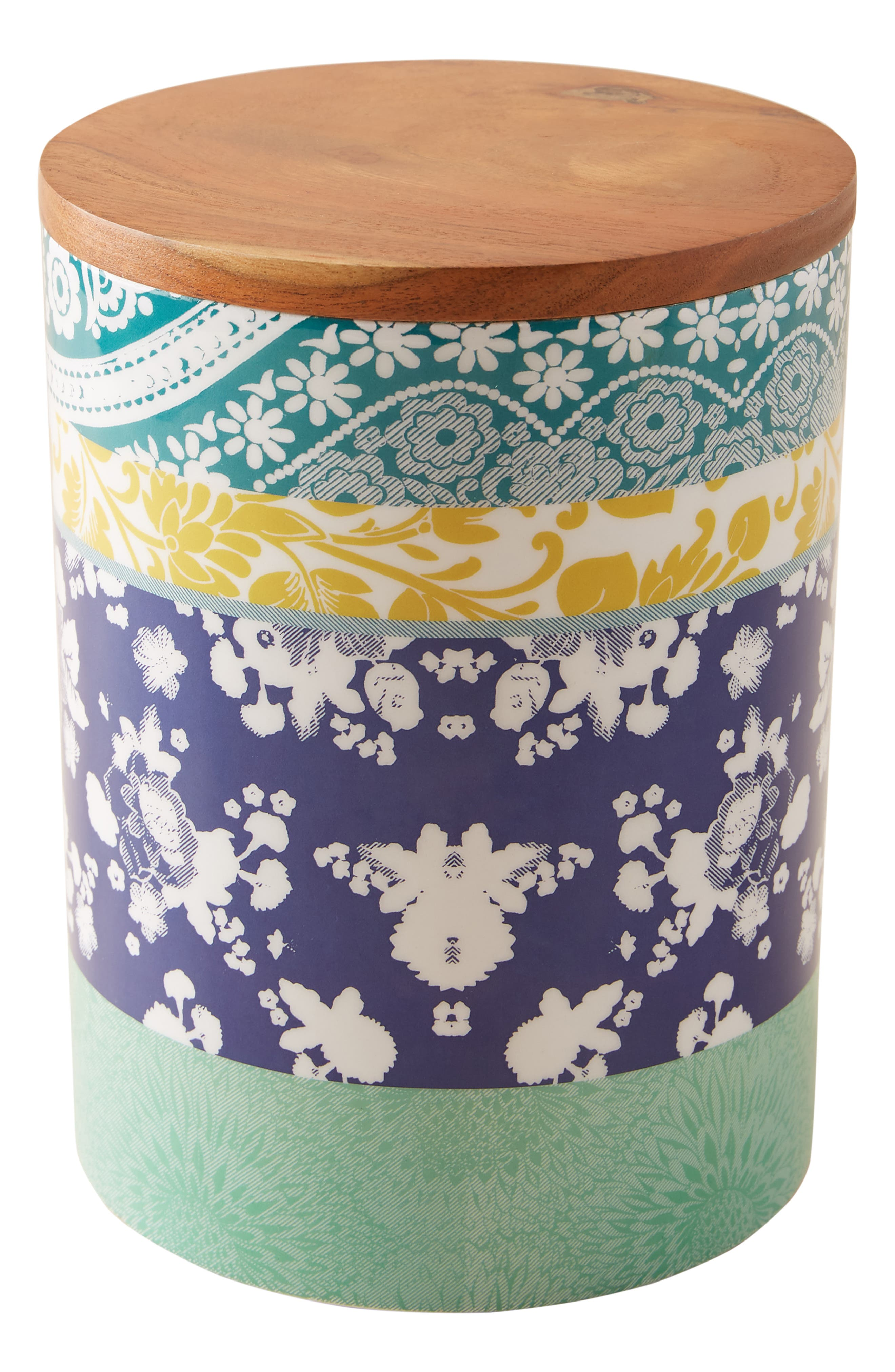 ANTHROPOLOGIE,                             Jacquard Canister,                             Alternate thumbnail 4, color,                             PURPLE