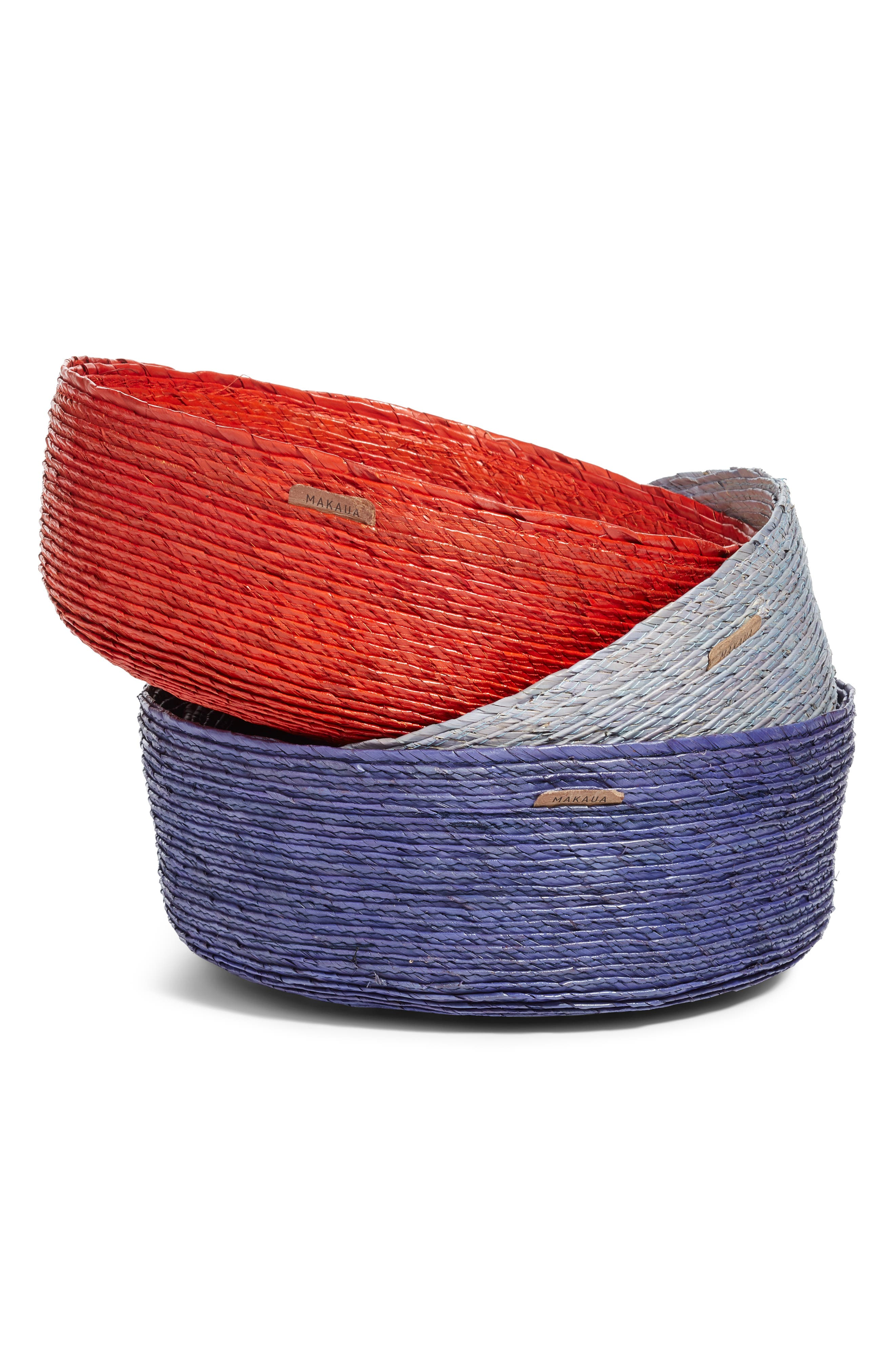 Outside Color Round Palm Basket,                             Alternate thumbnail 3, color,                             400