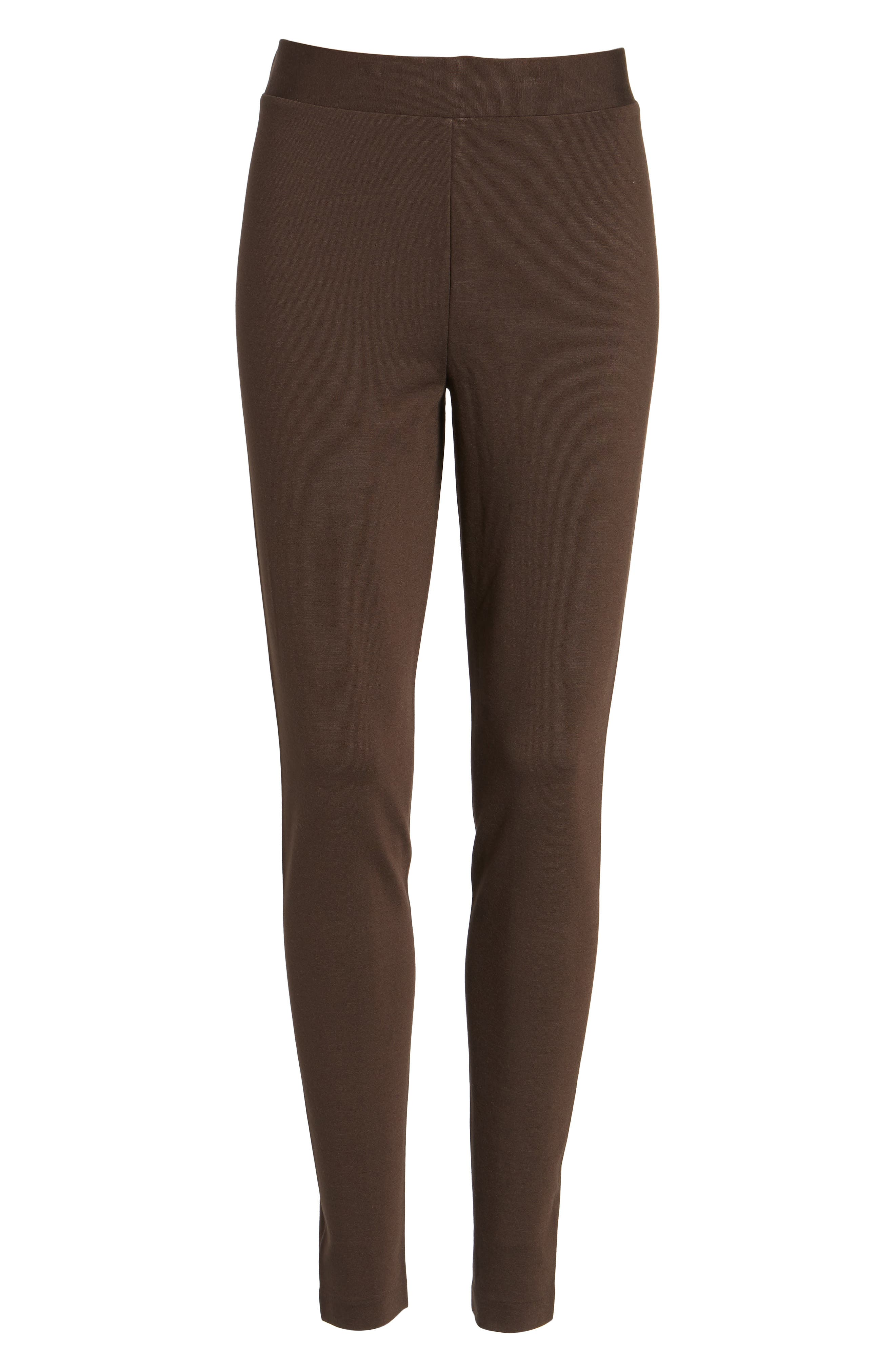 Two by Vince Camuto Seamed Back Leggings,                             Alternate thumbnail 6, color,                             ESPRESSO