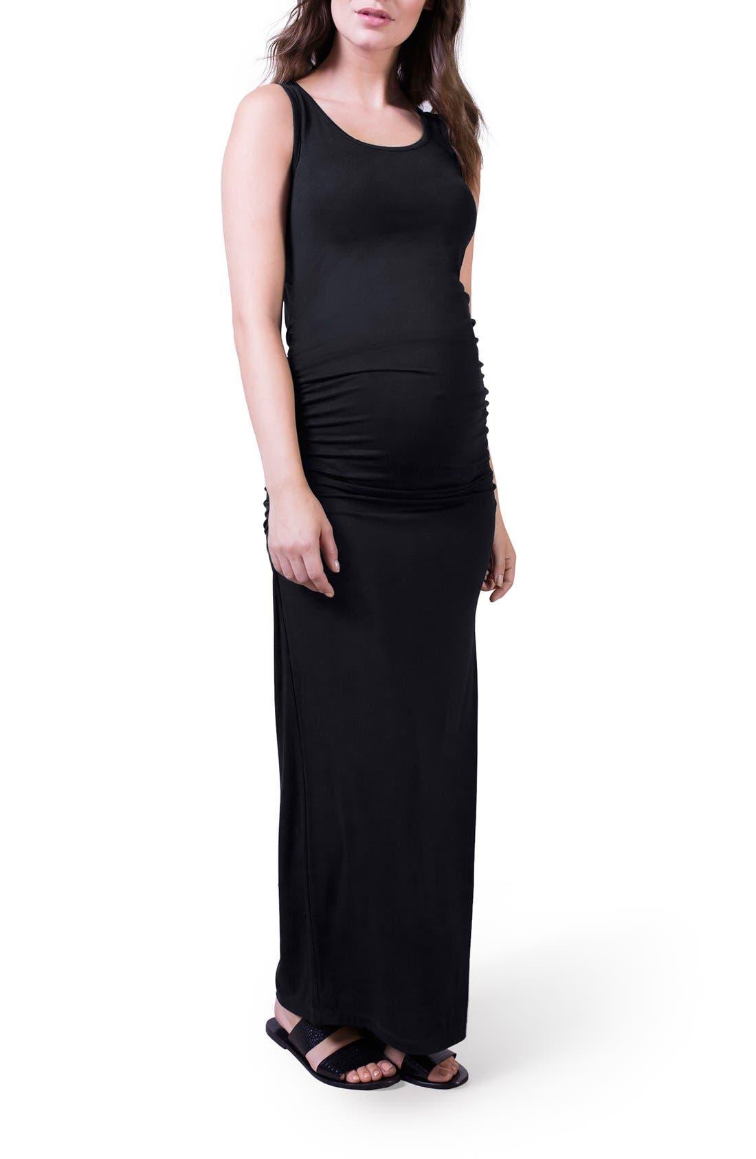 'Lisle' Maternity Maxi Tank Dress,                             Alternate thumbnail 2, color,                             001