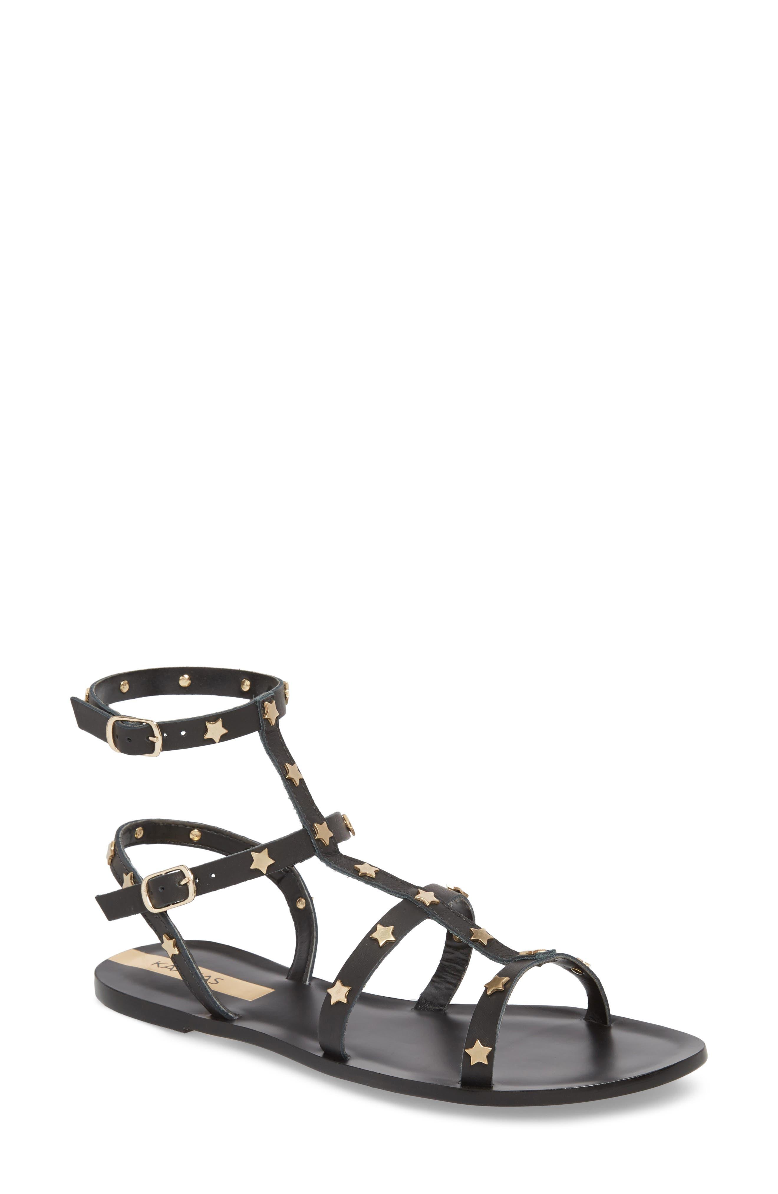 KAANAS Lapa Gladiator Sandal, Main, color, 001