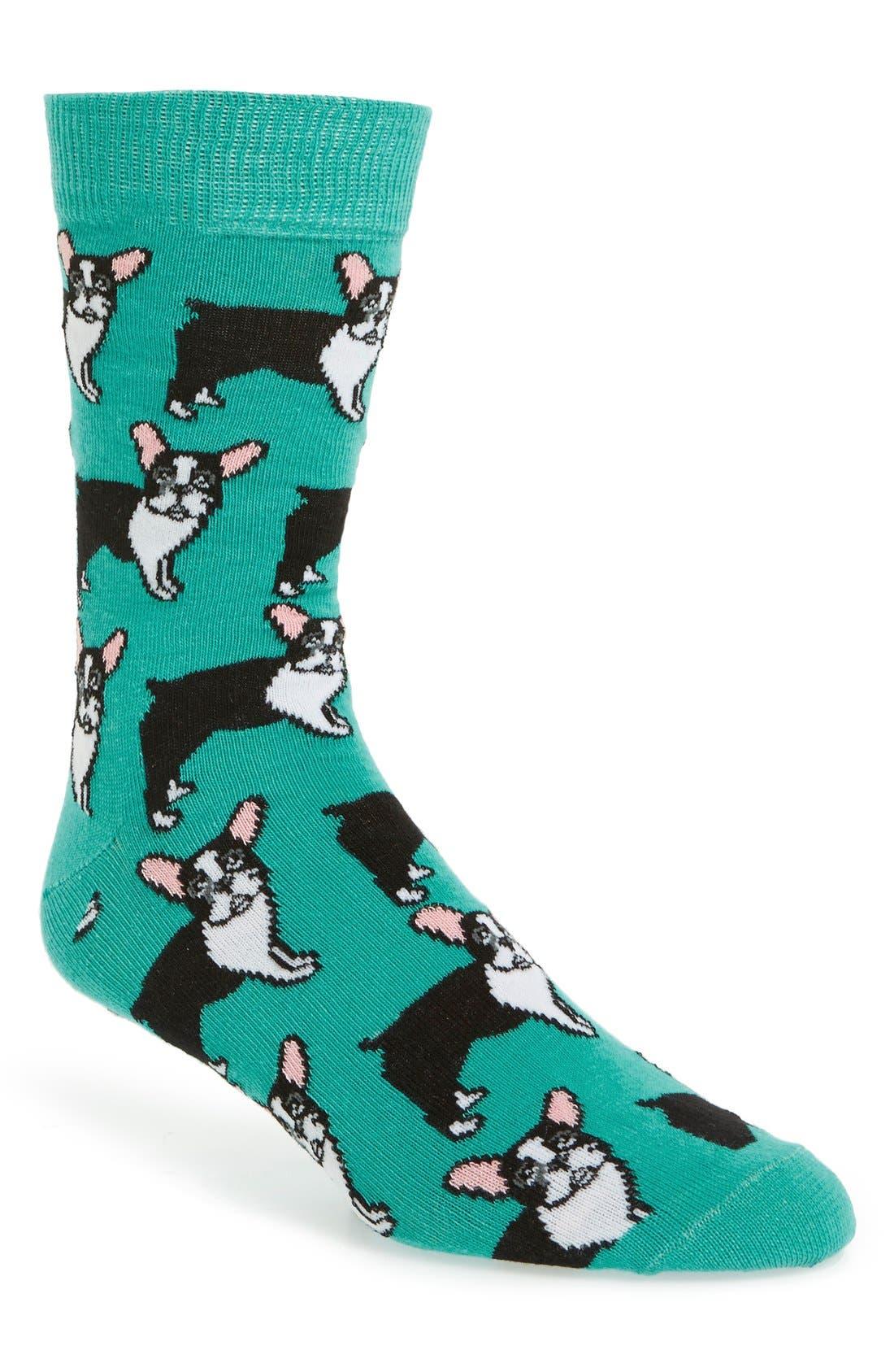 French Bulldog Socks,                             Main thumbnail 1, color,                             400