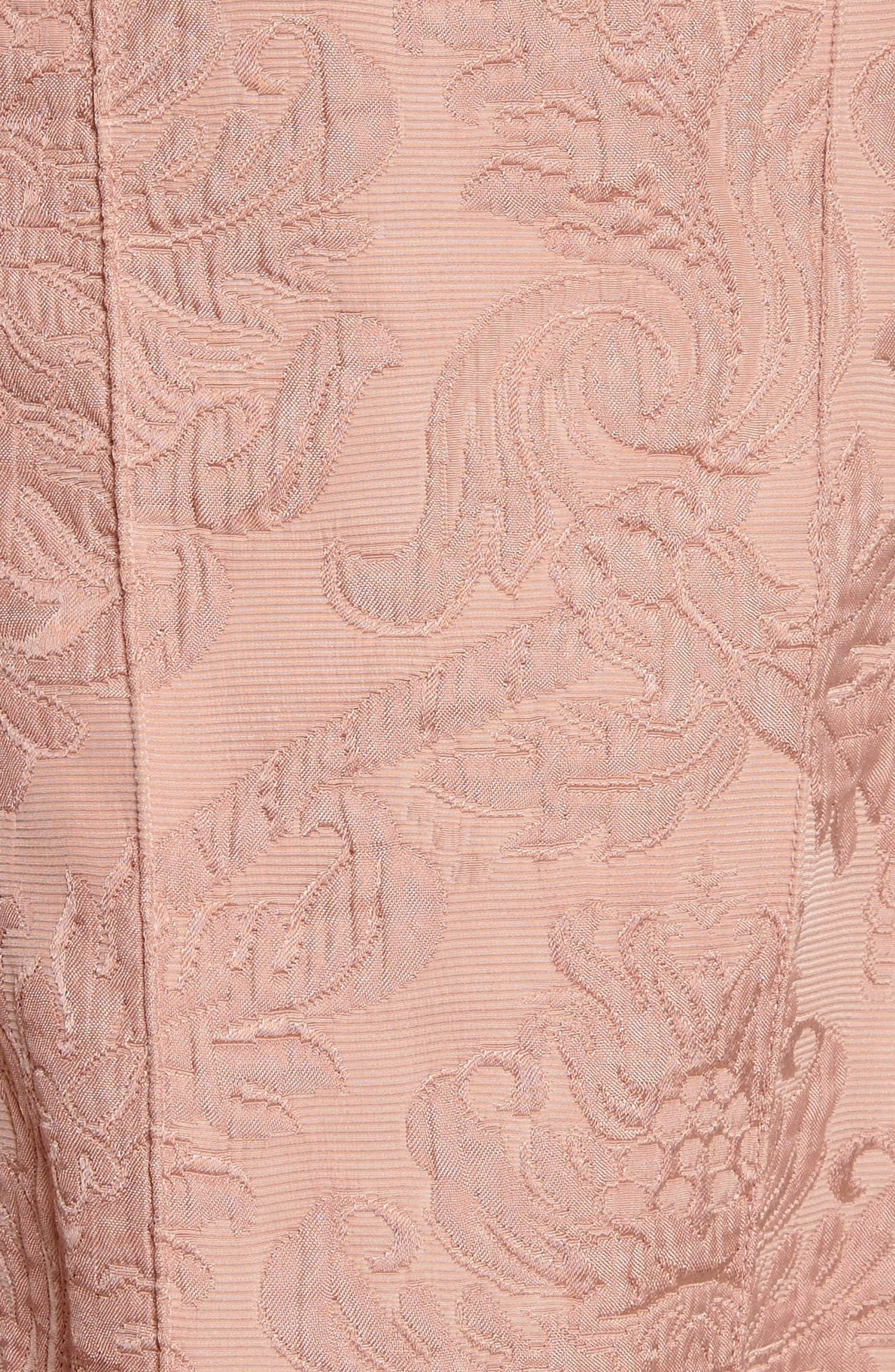 Baroque Jacquard Hourglass Dress,                             Alternate thumbnail 6, color,                             658