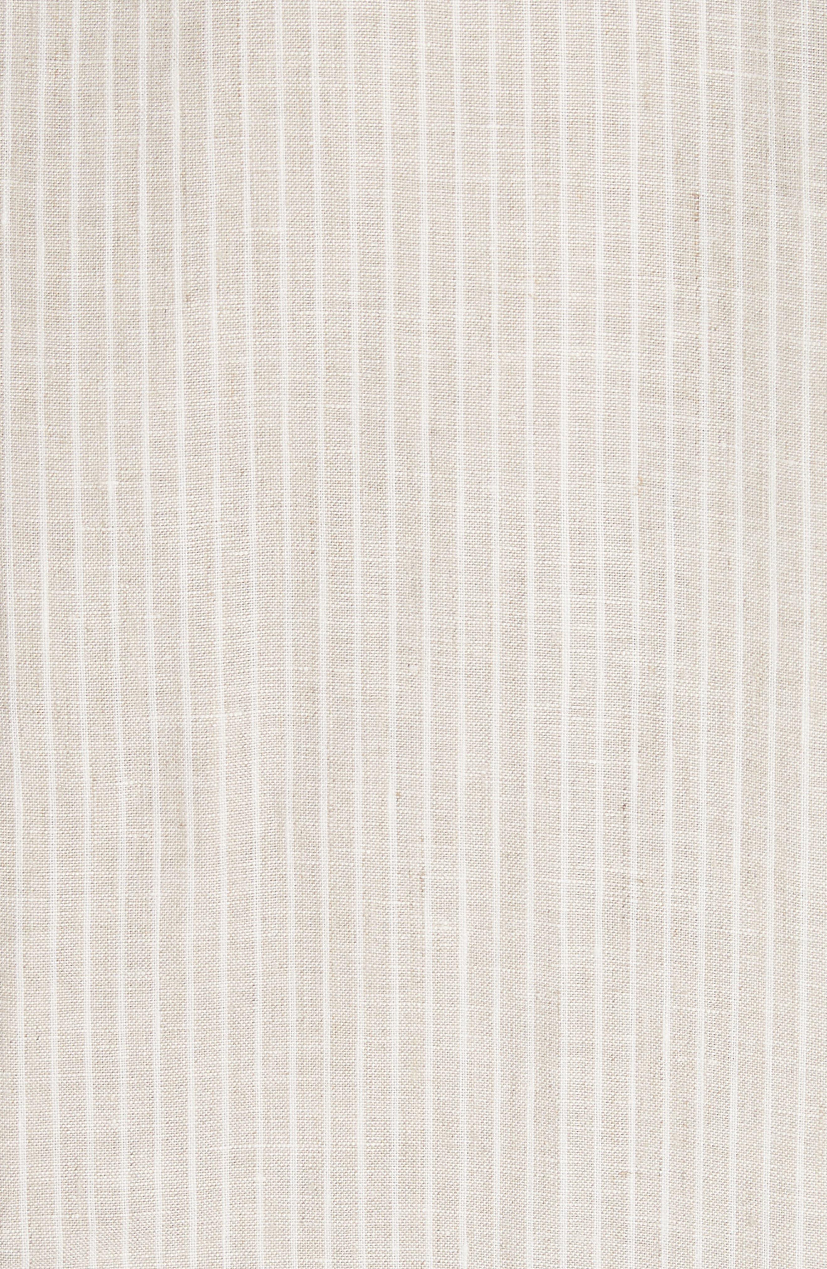 LAFAYETTE 148 NEW YORK,                             Emiline Stripe Linen Dress,                             Alternate thumbnail 5, color,                             251